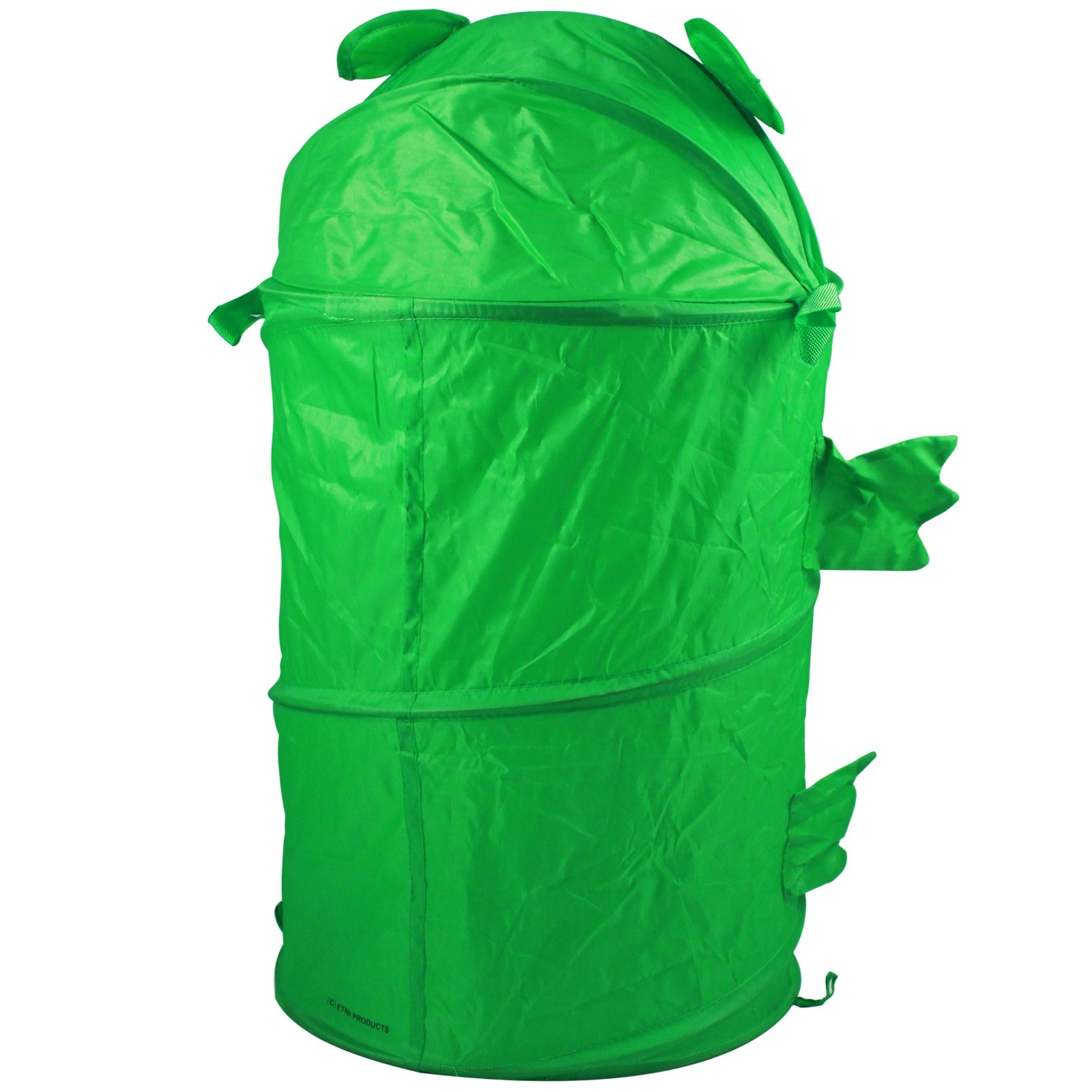 KidPlay Pop Up Green Frog Hamper Kids Laundry Basket Collapsible Nylon Bin