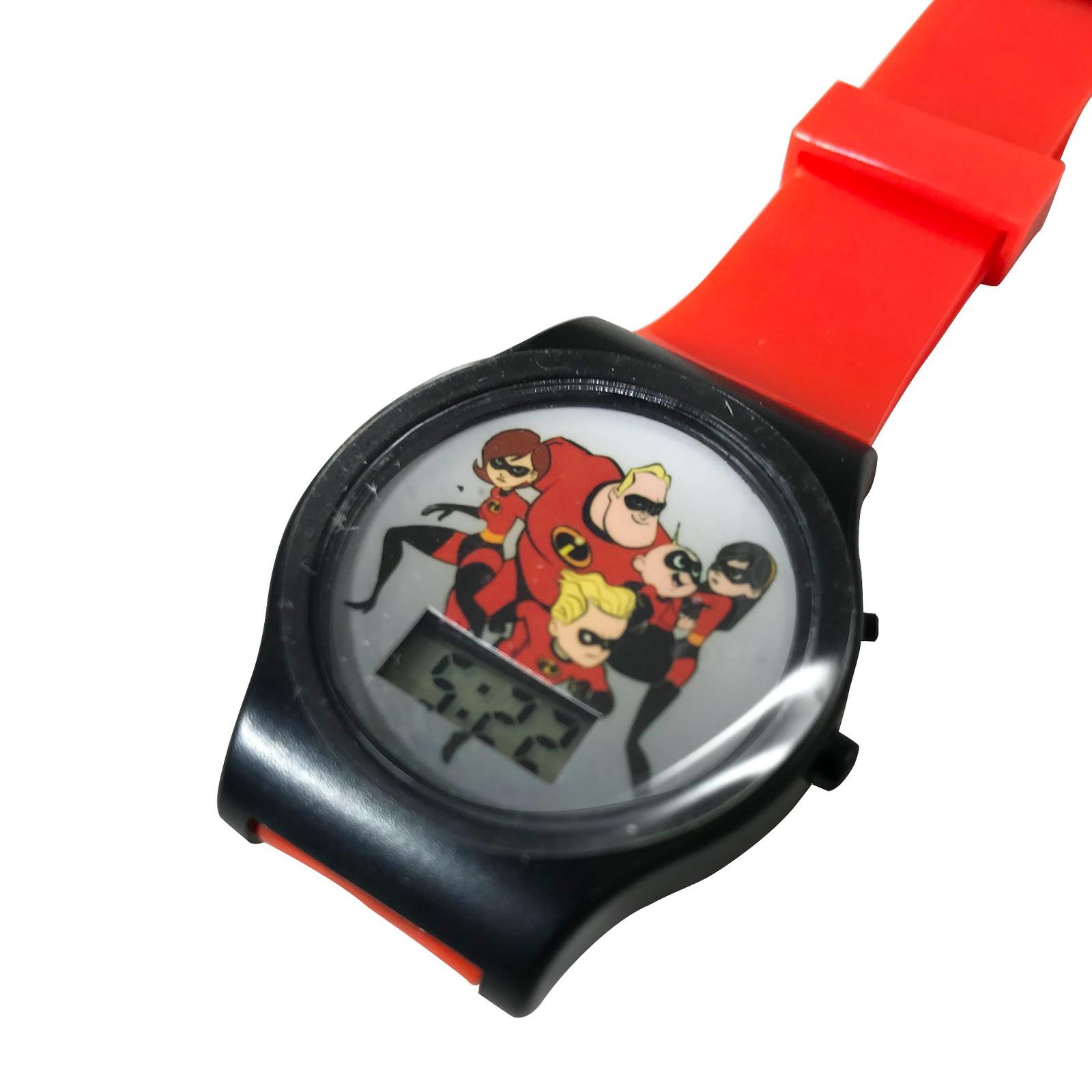 Incredibles 2 Digital LCD Wrist Watch Kids Adjustable Strap