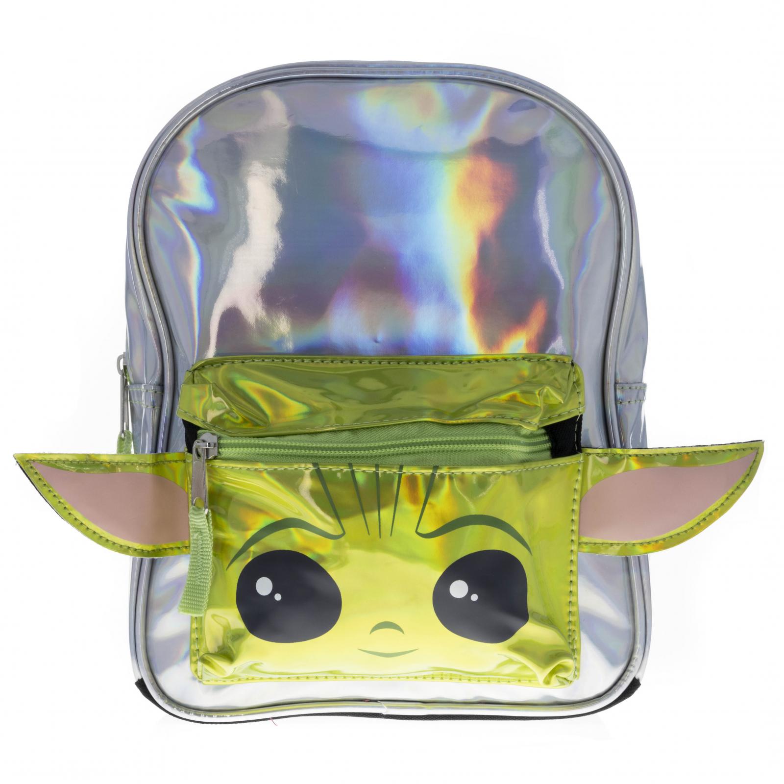 Disney Star Wars Baby Yoda Metallic Mini Backpack 10 Inch