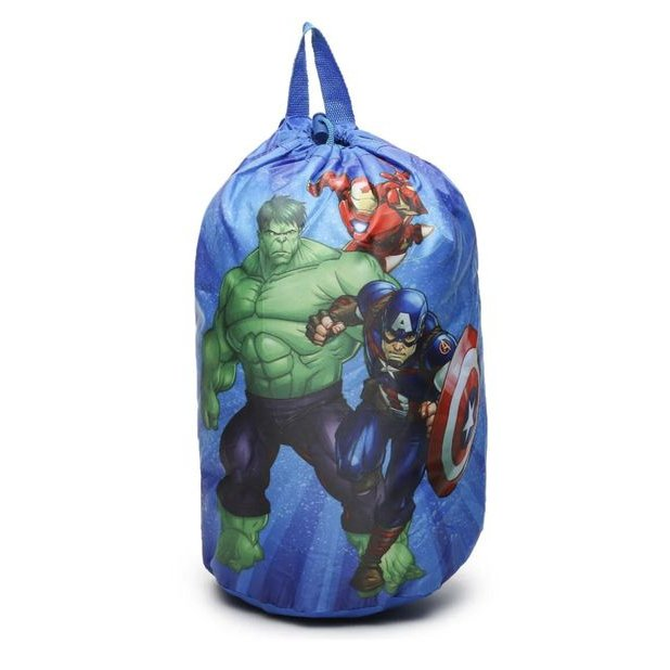 Marvel Avengers Kids Indoor Sleeping Bag Slumber Party with Drawstring Backpack