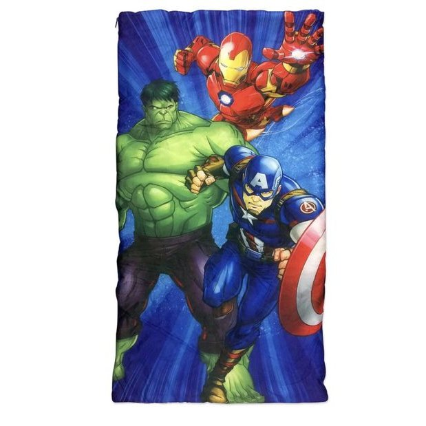 Marvel Avengers Kids Indoor Sleeping Bag Slumber Party with Drawstring Backpack