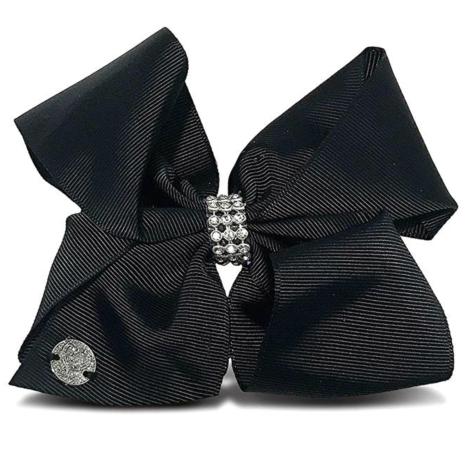 Nickelodeon JoJo Siwa Girls Hair Clip Style Bow Black with Rhinestones Accessory