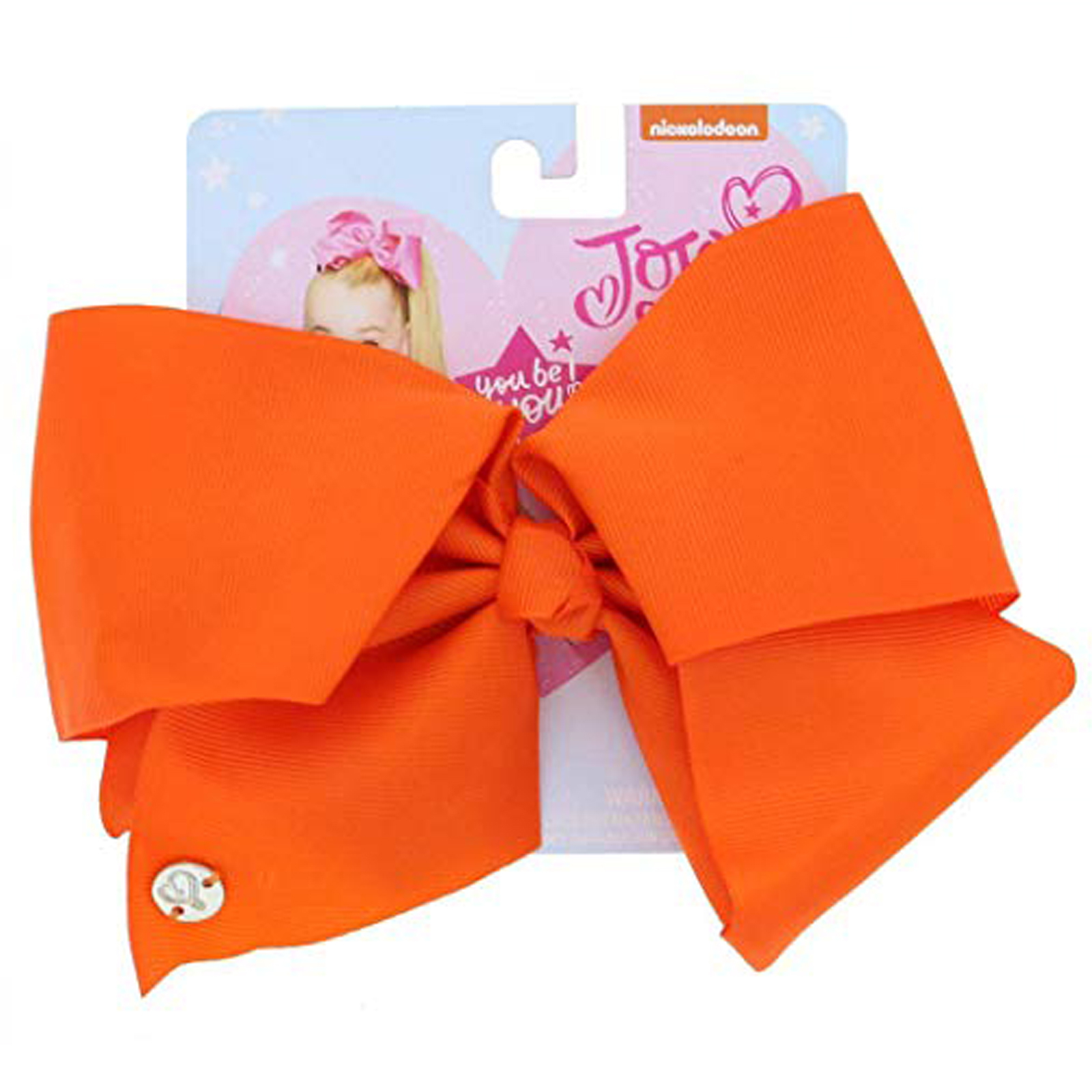 Nickelodeon JoJo Siwa Girls Large Hair Clip Style Bow Tangerine Hair Accessory