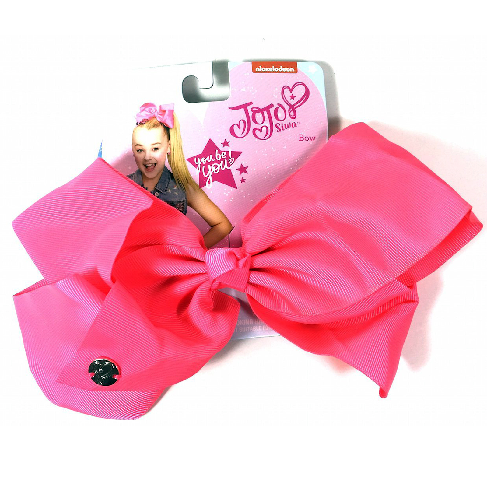 Nickelodeon JoJo Siwa Girls Large Neon Pink Bow Kids Fashion