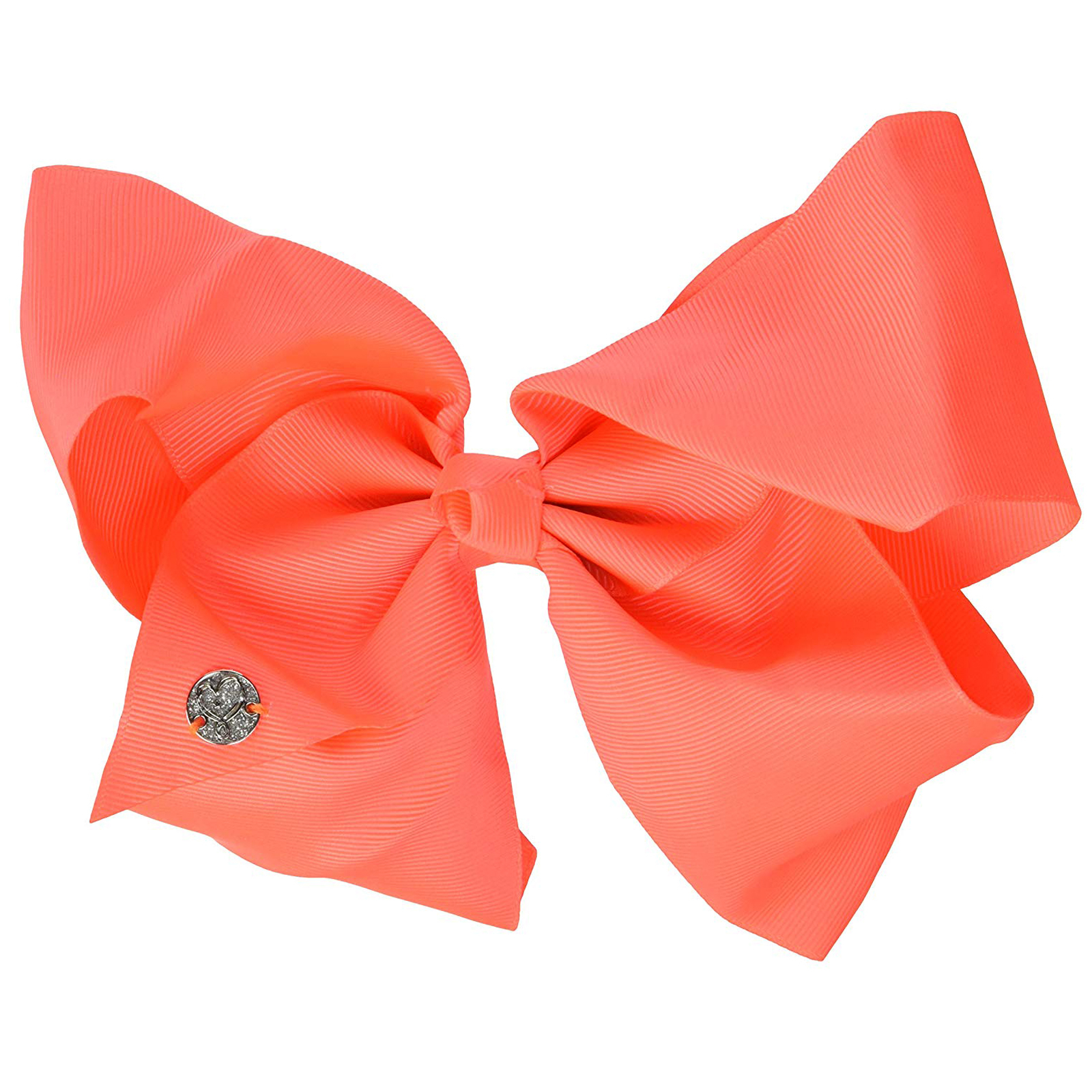 Nickelodeon JoJo Siwa Girls Large Hair Clip Style Bow Neon Coral Hair Accessory