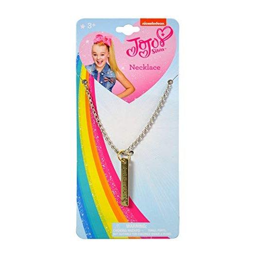 JoJo Siwa Girls Pendant Necklace Vertical Bar Just Have Fun Kids Fashion Jewelry