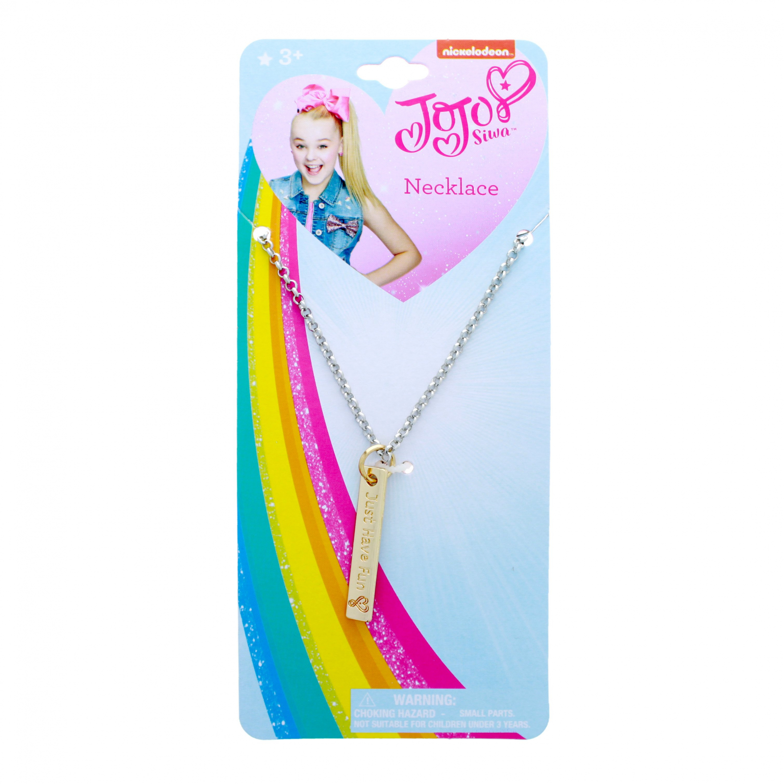 JoJo Siwa Girls Fashion Jewelry Pendant Just Have Fun