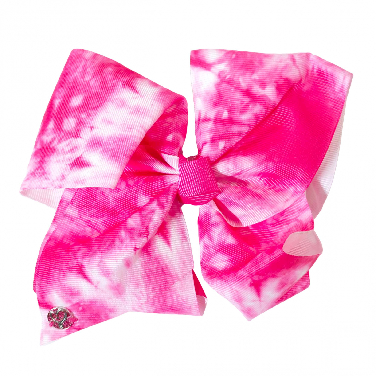Nickelodeon JoJo Siwa Girls Large Pink Tie Dye Bow Kids Hair