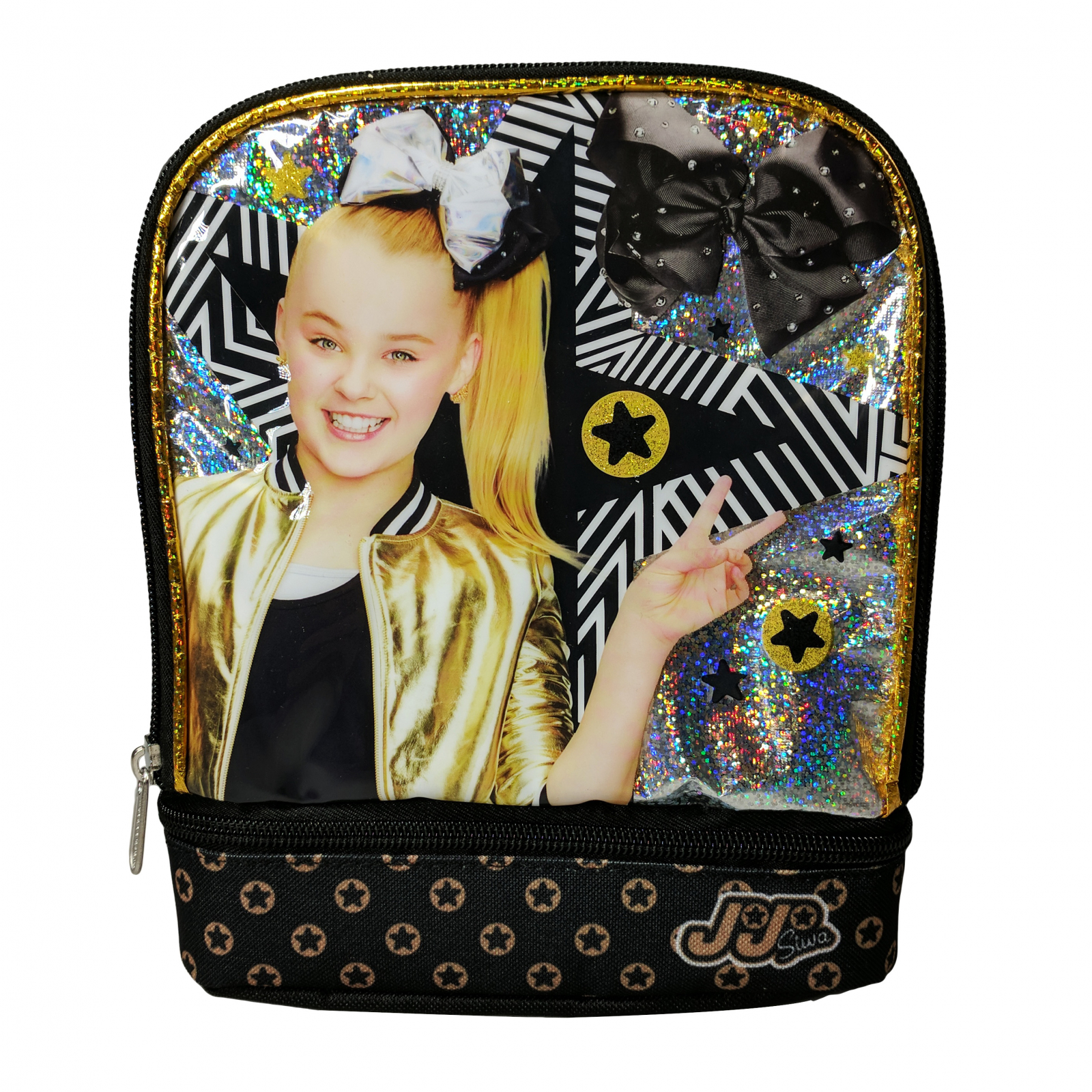 JoJo Siwa Back to School Bows Insulated Double Compartment Lunch Box