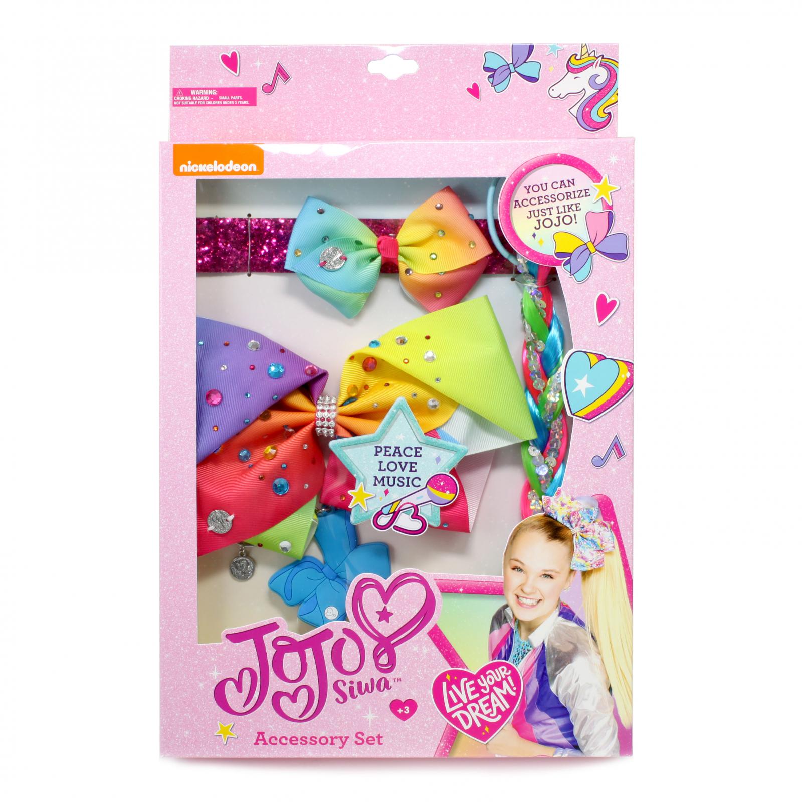JoJo Siwa Pink Hair Accessory Box Set Headband Hair Bow 4pc