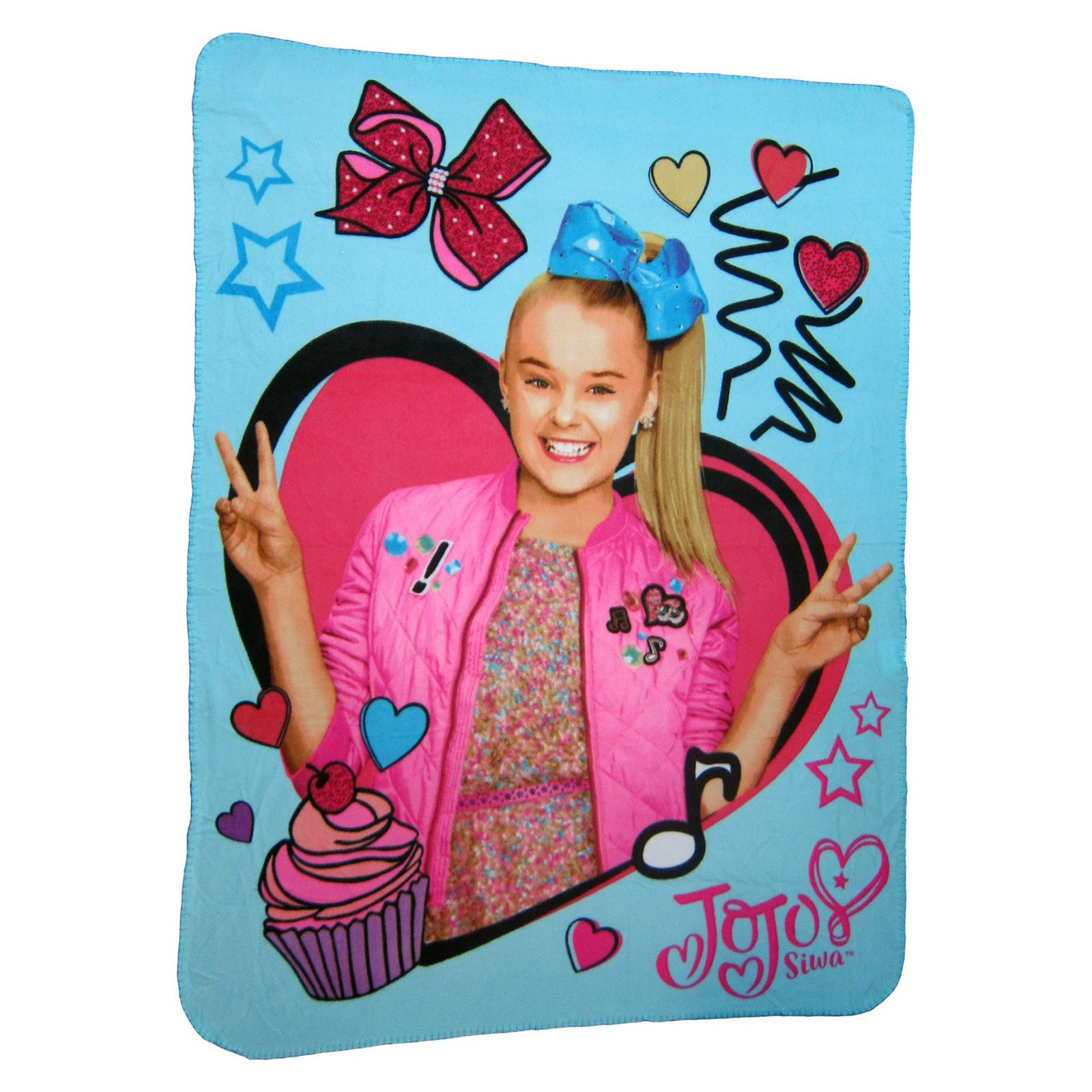 Nickelodeon JoJo Siwa Fleece Throw Blanket Kids Home Decor 45 x 60 Inch