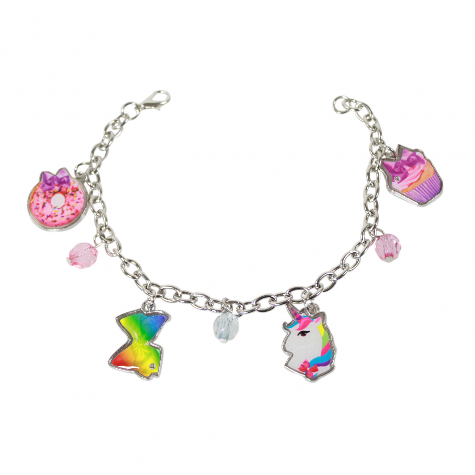 JoJo Siwa Girls Clasp Metal Bracelet With Colorful Charms