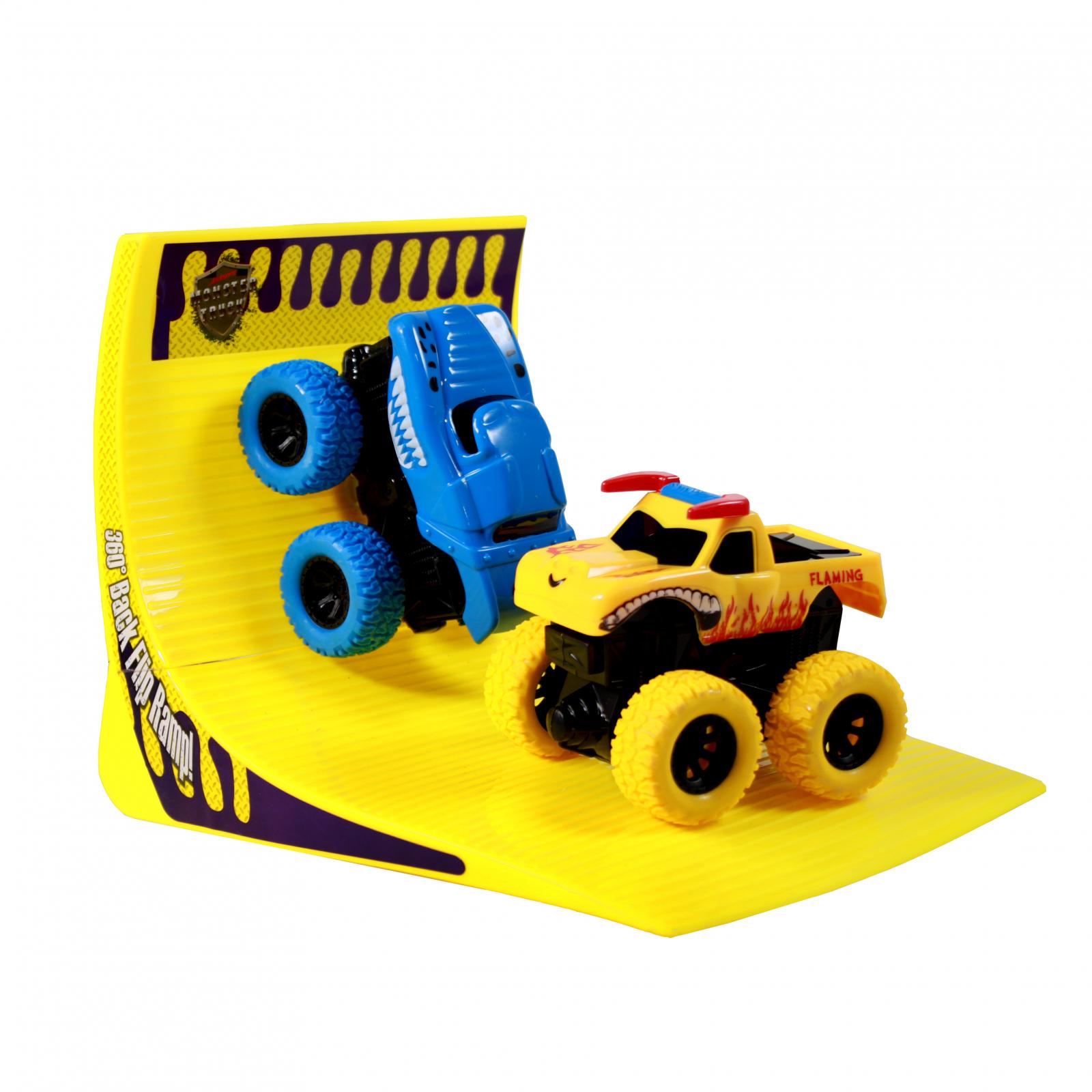 TychoTyke Kids Monster Truck Friction Powered Blue Yellow
