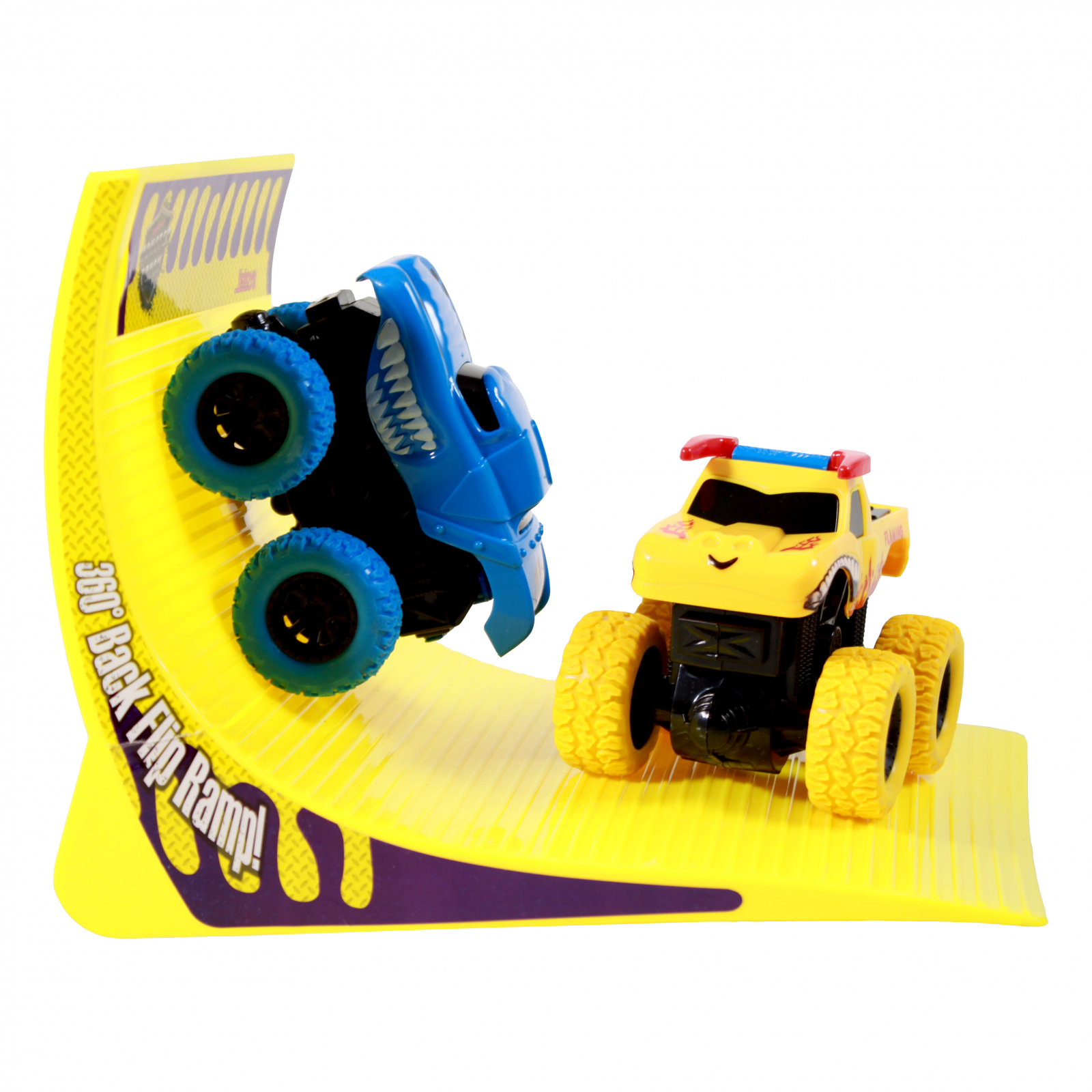 TychoTyke Kids Monster Truck Friction Powered Blue Yellow
