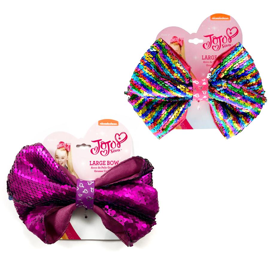 JoJo Siwa Girls Large Pony Hair Tie Bow Reversible 2pc