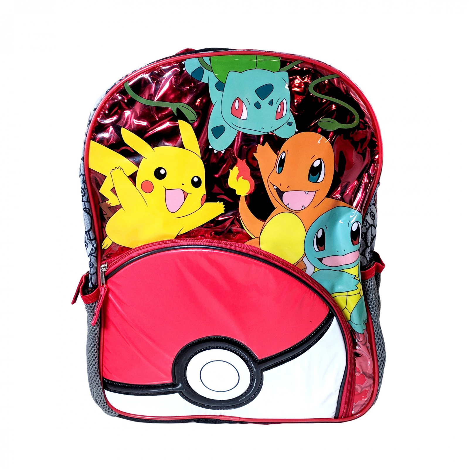 Nintendo Pokemon Kids School Backpack Mesh Water Bottle Pockets Travel Bag