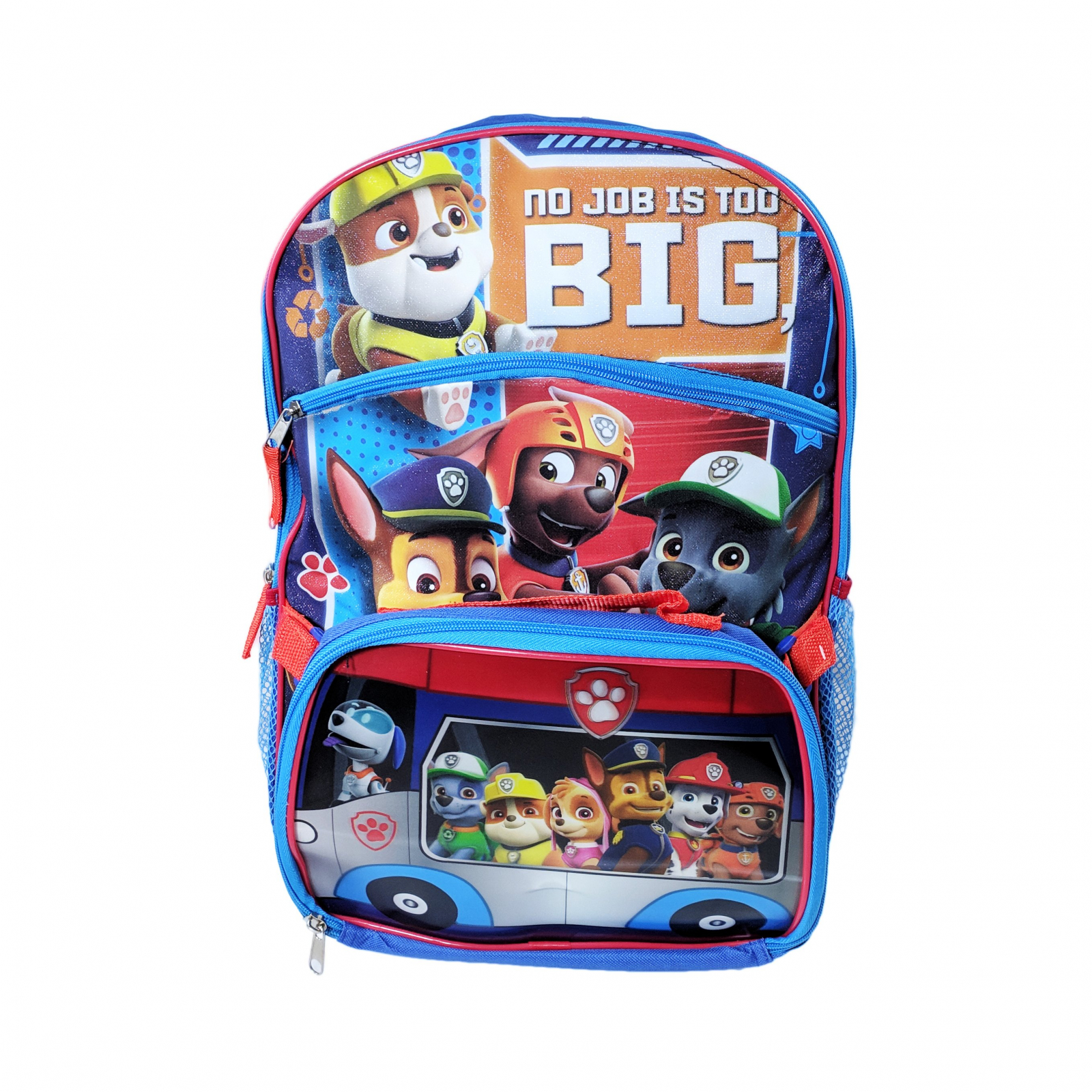 Nickelodeon Paw Patrol Kids School Backpack with Lunch Bag Set Travel Tote