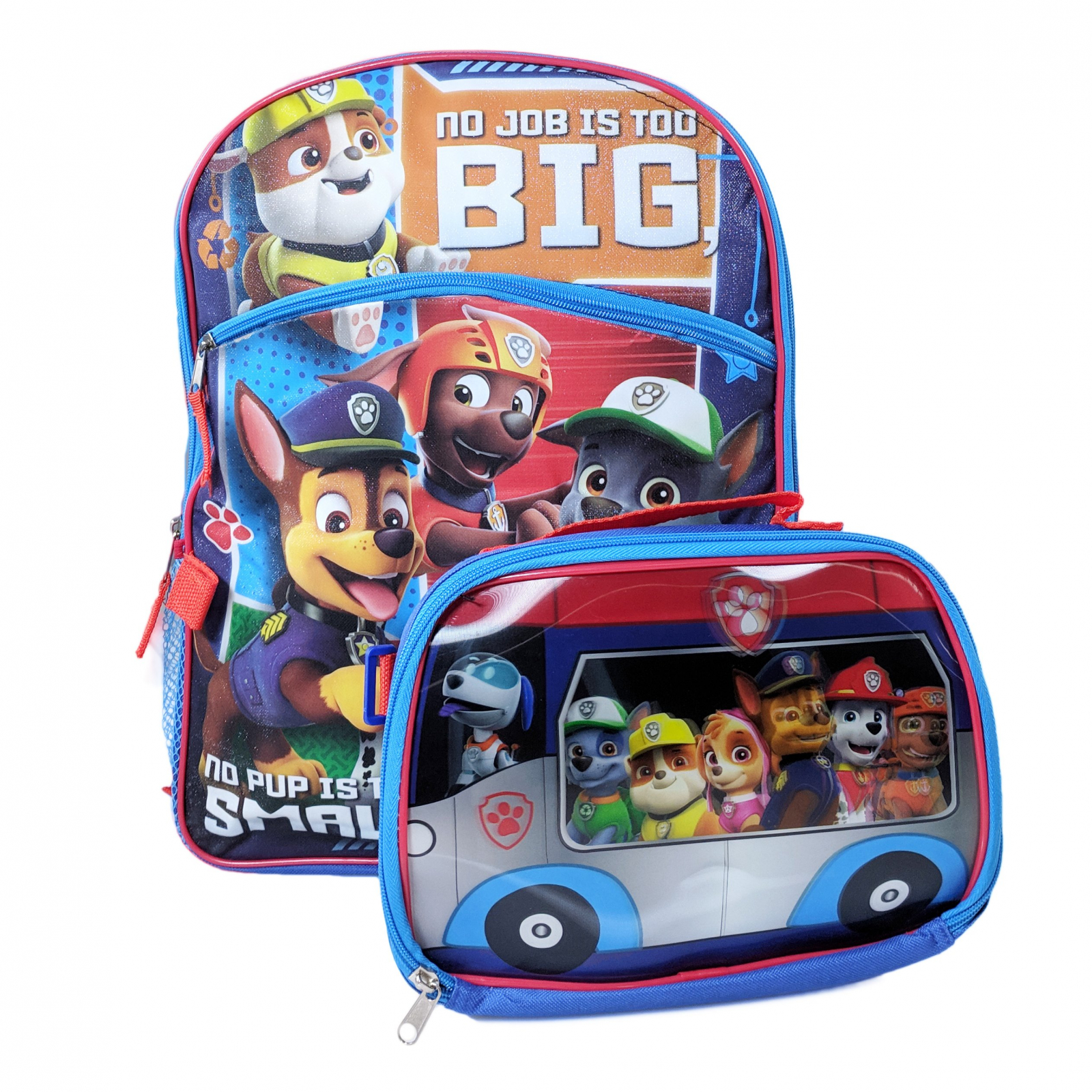 "Paw Patrol Kids 16"" Backpack Insulated Lunch Bag Set"