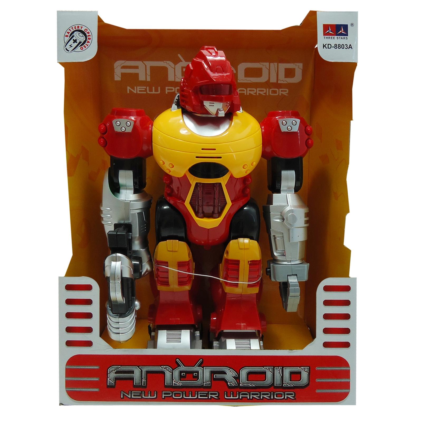 Power Warrior Light Up Walking Super Robot Action Figure - Blue