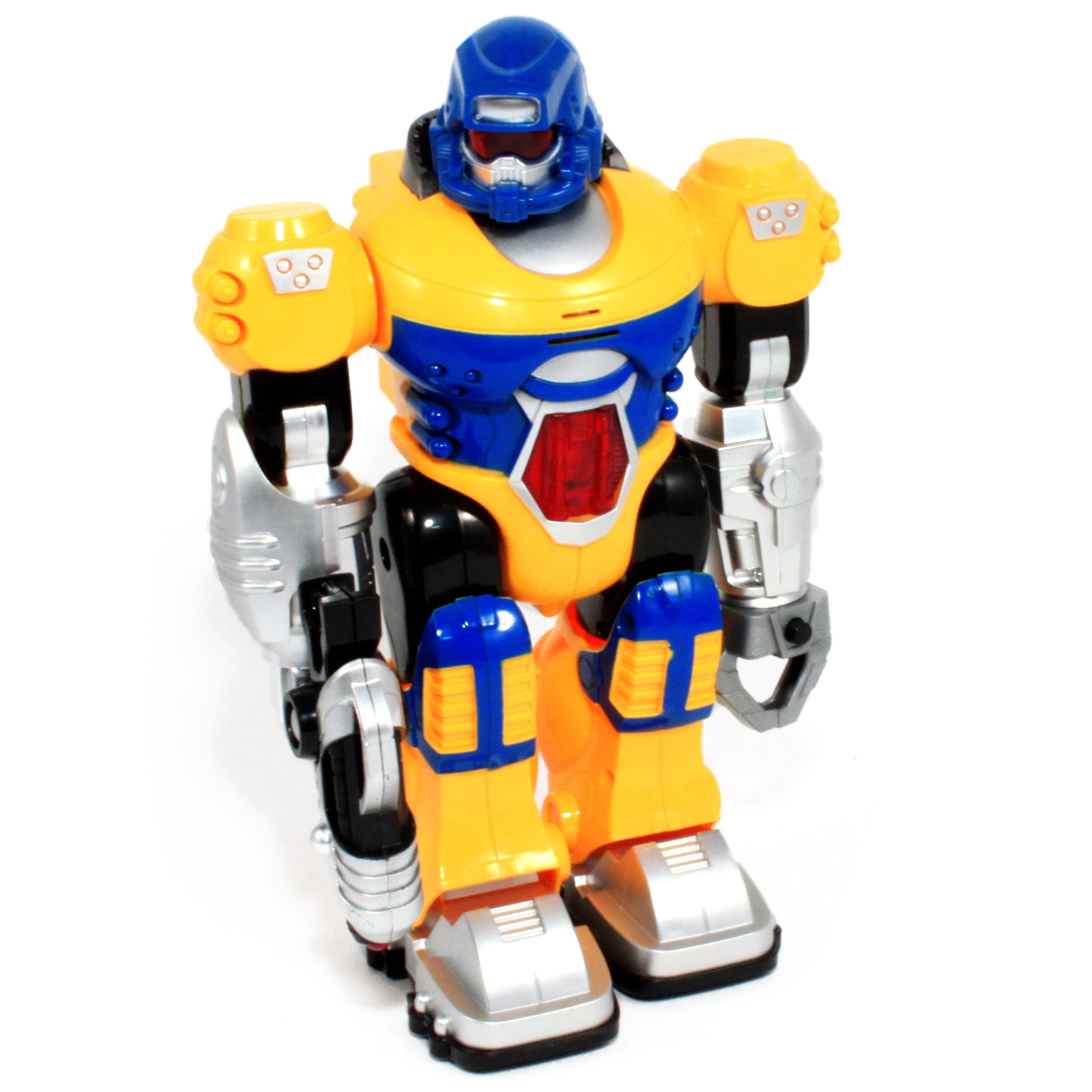Walking and Shouting Commands the Yellow Power Warrior LED Light Up Super Robot Action Figure Boys Toy