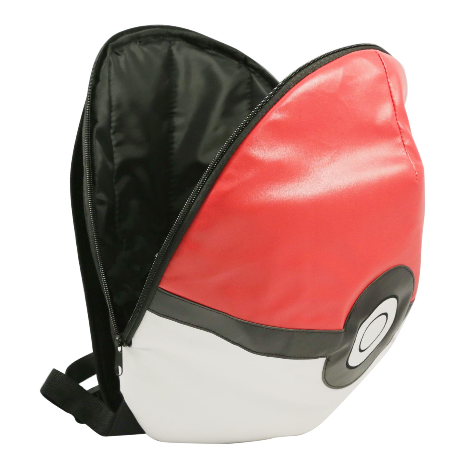 "Pokemon Backpack ""Pokeball"" Theme Back to School Travel Bag"