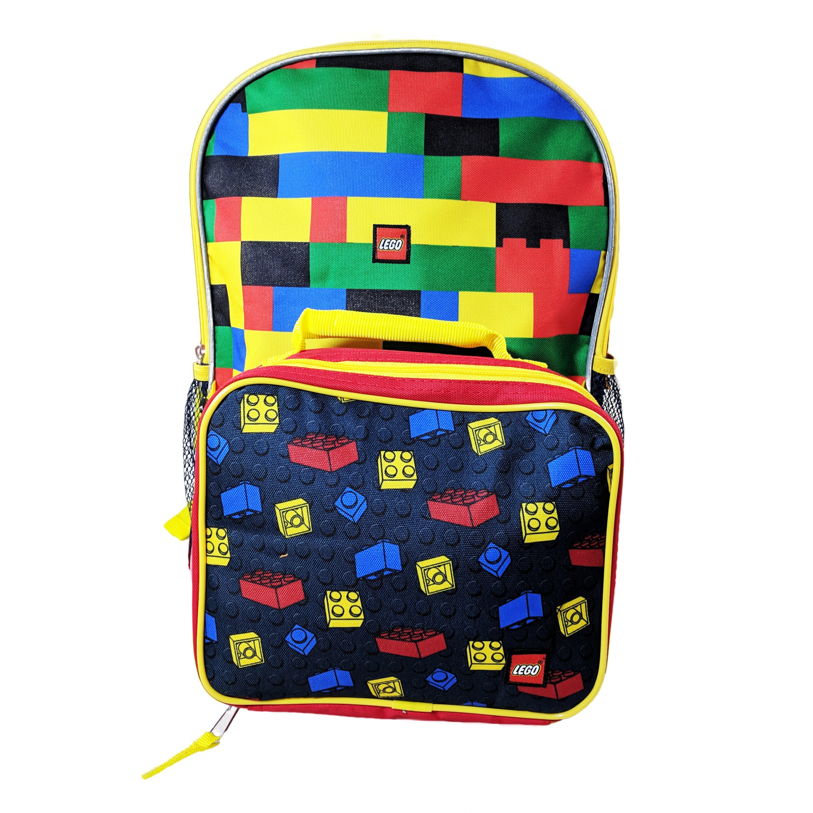 Licensed Lego Kids School Backpack with Lunch Bag Set Travel Tote Food Kit