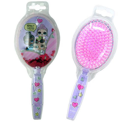 LOL Surprise Pink Floating Confetti Bristle Hair Brush