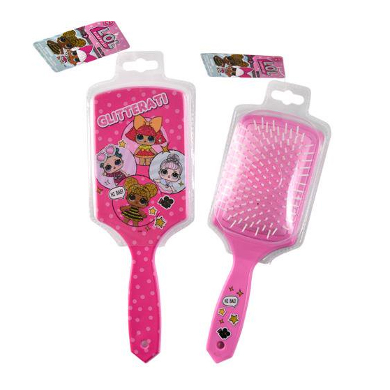 LOL Surprise Dolls Pink Glitterati Sparkle Square Hair Brush