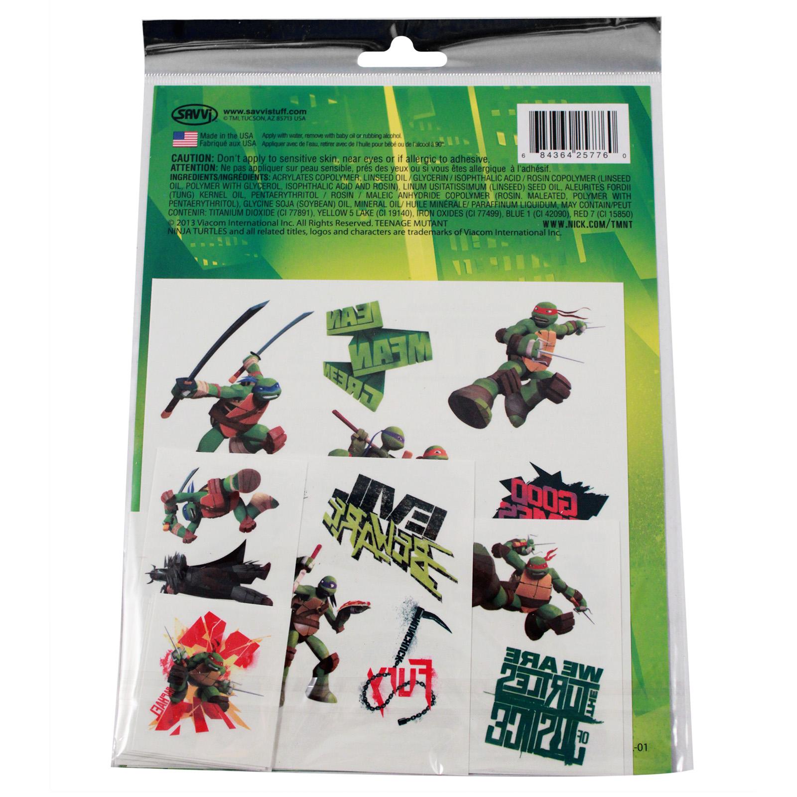 Teenage Mutant Ninja Turtles Temporary Tattoos 25pc Set Kids Party Favor Toy