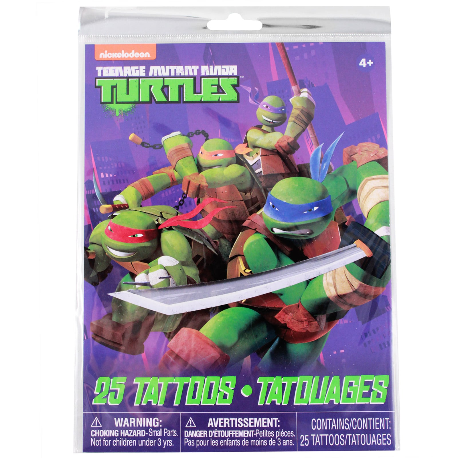 Teenage Mutant Ninja Turtles Temporary Tattoos 25pc Set Kids Party Favor Toy