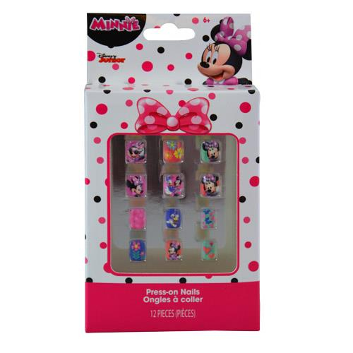Disney Minnie Mouse 12 Pack Press-On Nails Beauty Dress Up Pretend Play