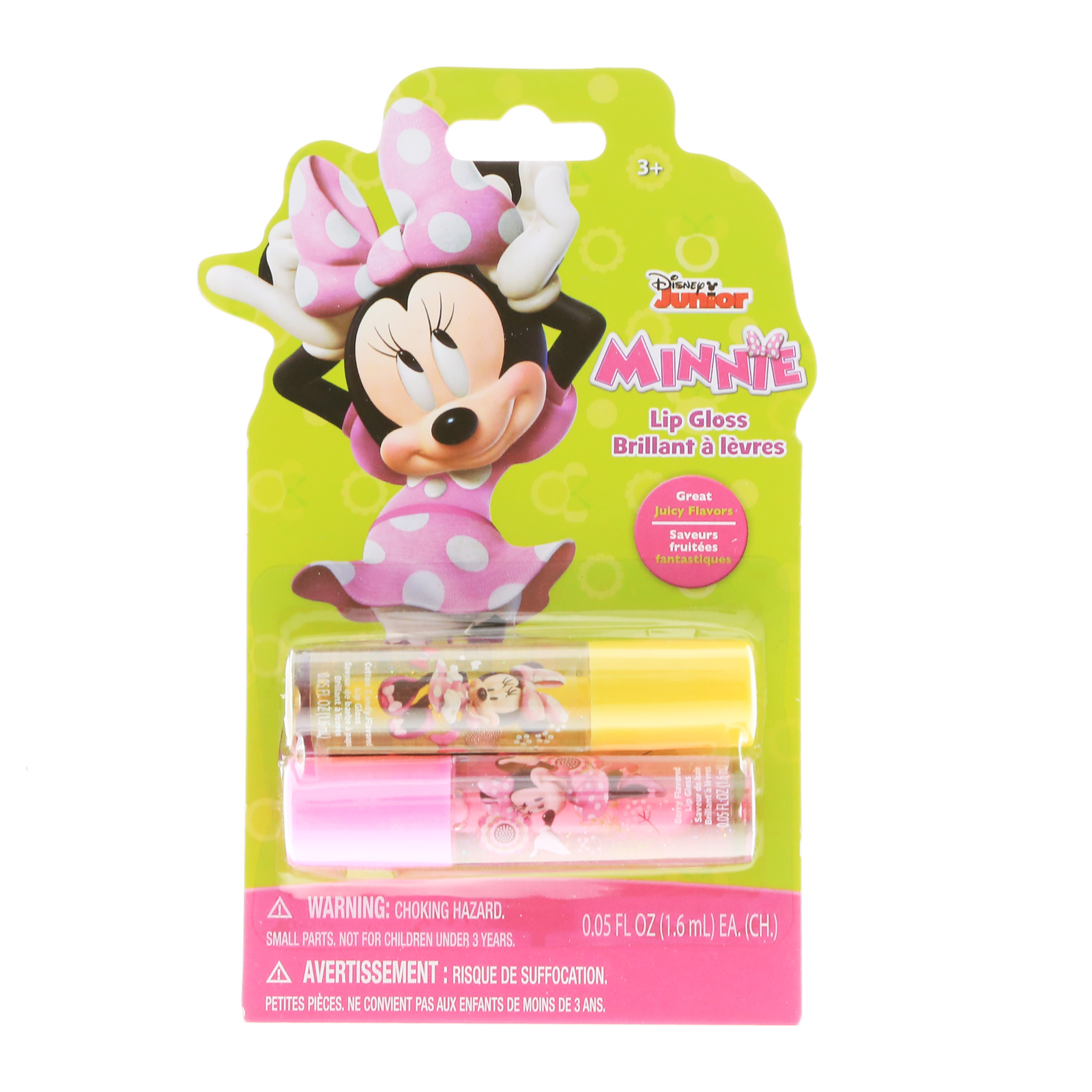 Disney Minnie Mouse Lip Gloss Girls Dress Up 2pk