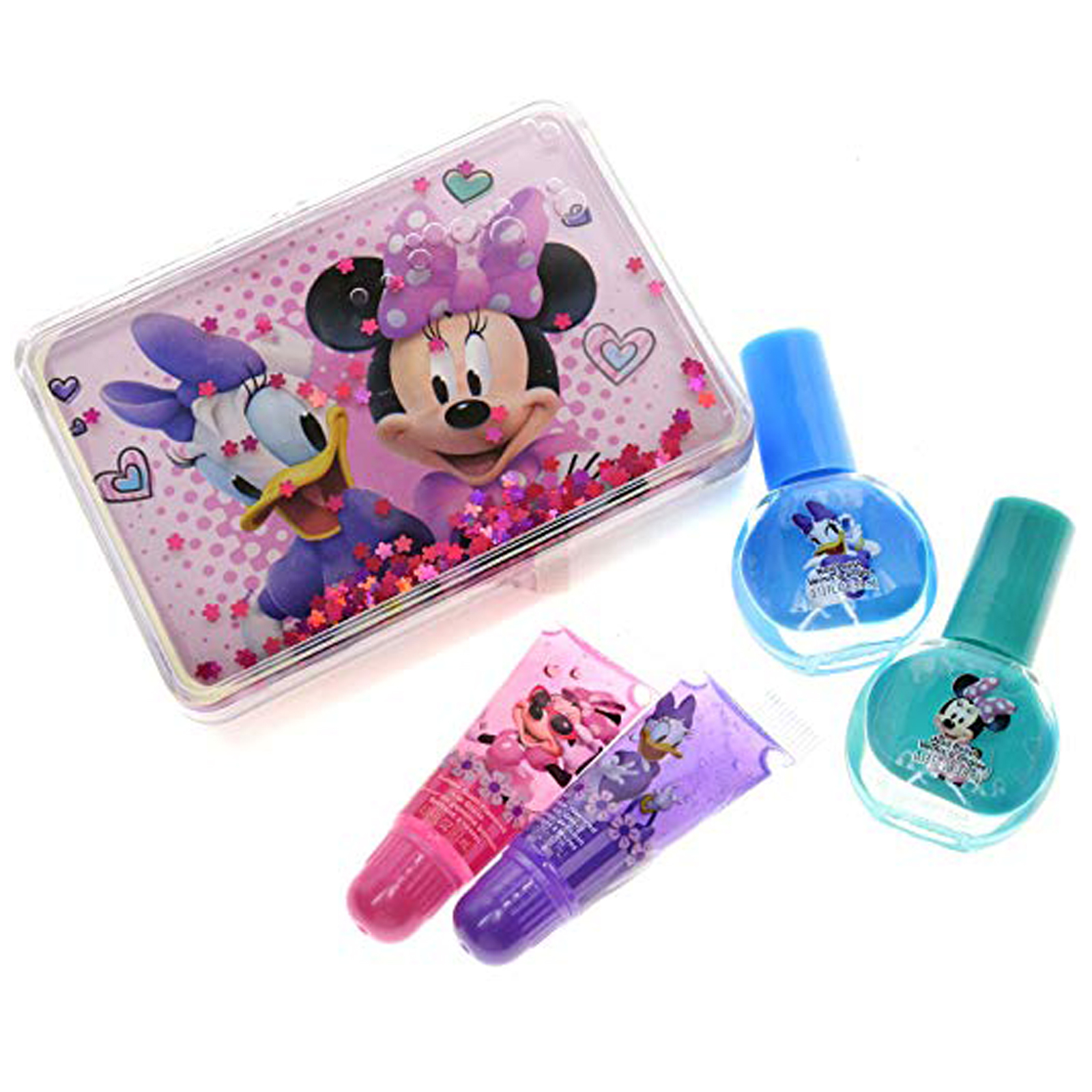 Disney Minnie Mouse and Daisy Duck Lip Gloss and Nail Polish Kit