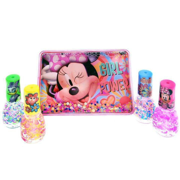 Disney Minnie Mouse Girls Nail Polish Gift Set - 5 Pieces