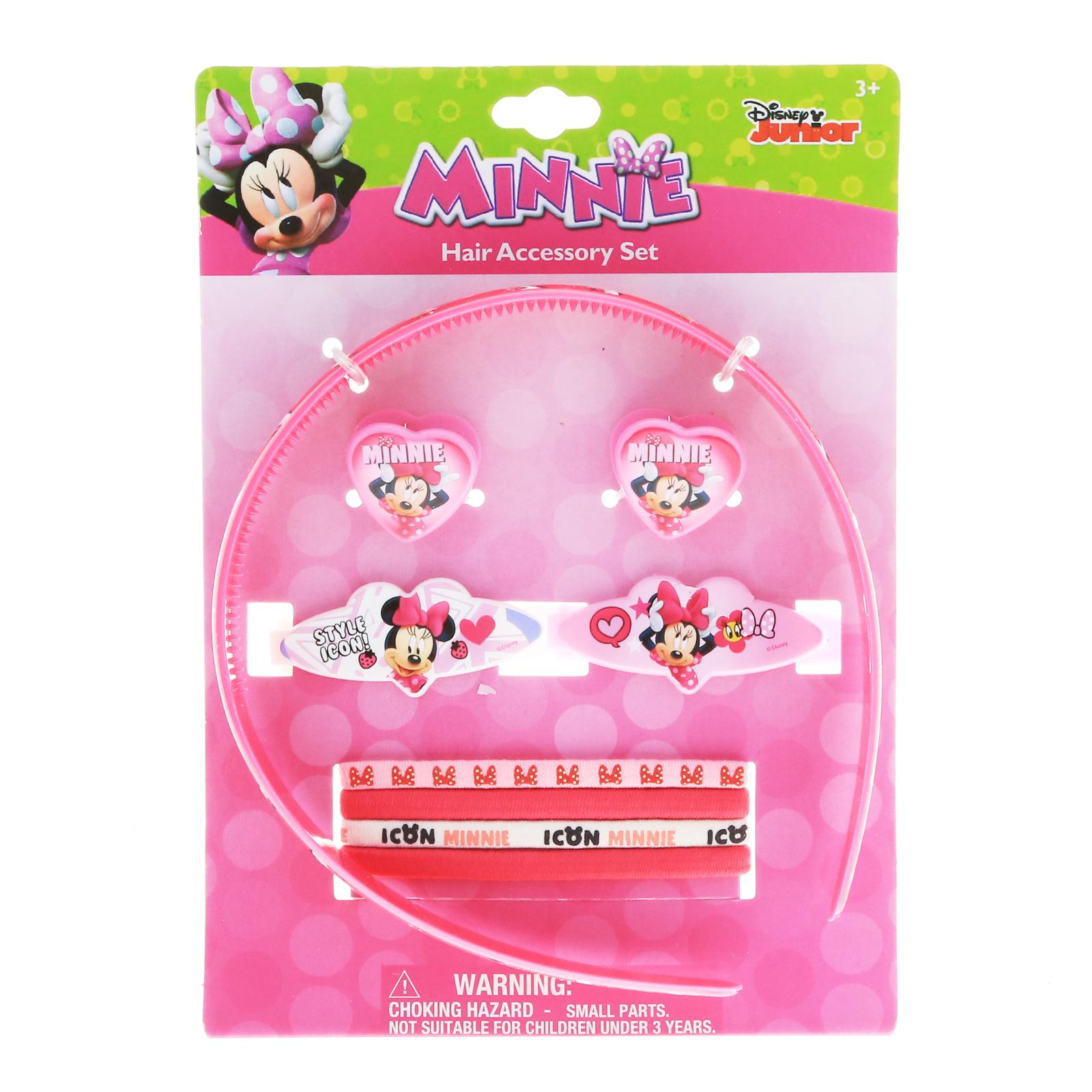 9pc Disney Minnie Mouse Hair Accessories Girls Gift Set Hair Ponies Headband