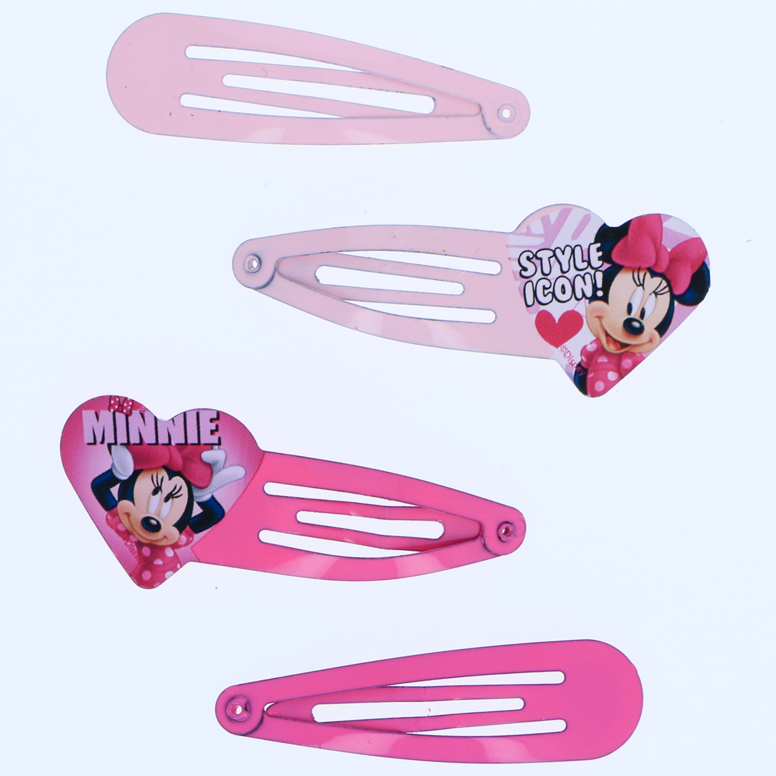 Disney Junior Minnie Mouse Girls Hair Brush and Clips Dress Up Accessory Set