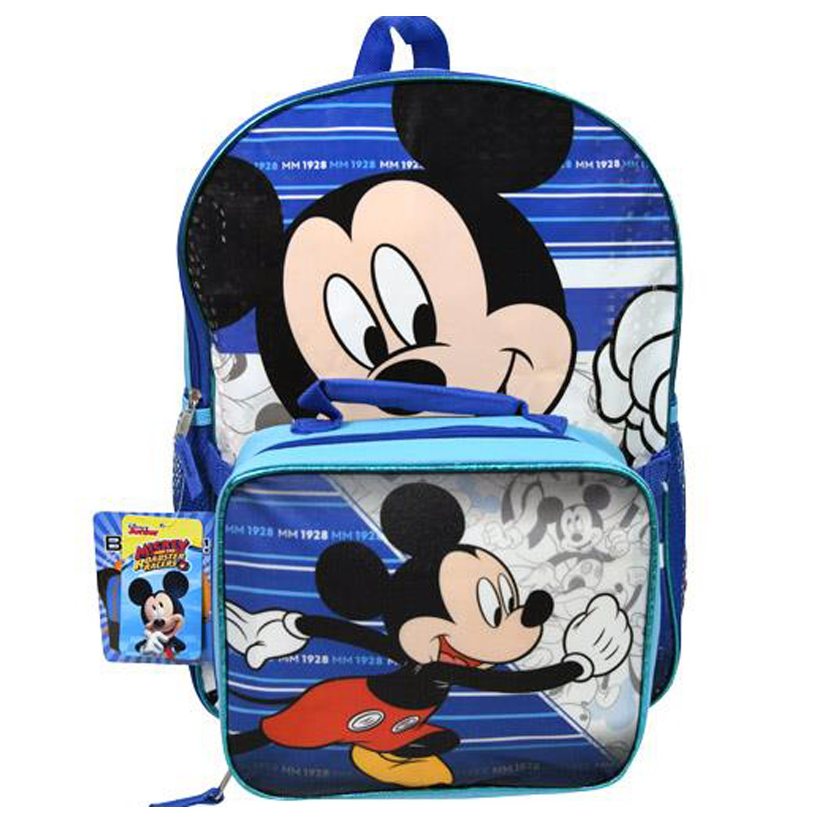 3590a409adc Disney Mickey Mouse Kids School Backpack with Lunch Bag Set Travel Tote