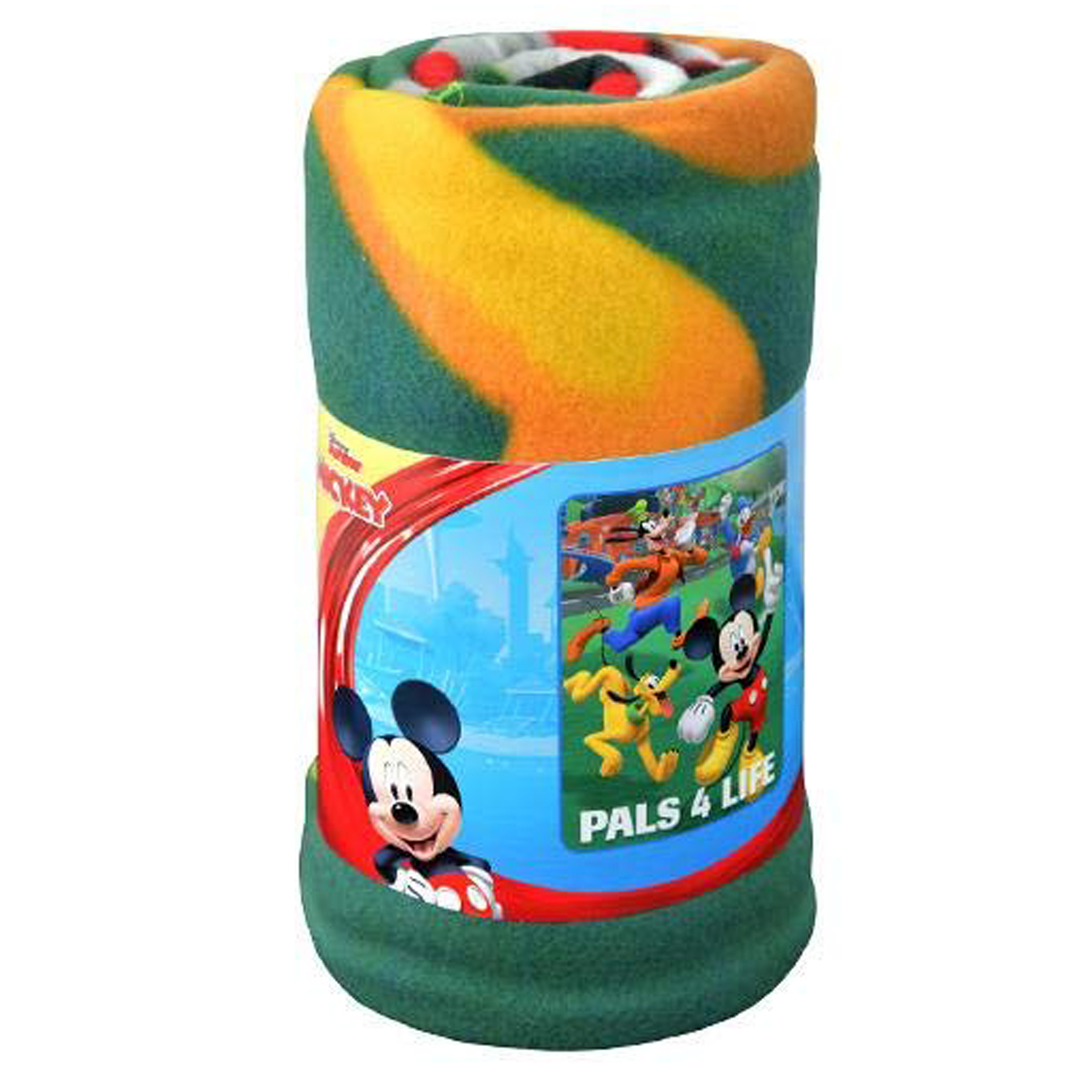 Mickey Mouse and Roadsters Fleece Throw Blanket Kids Home Decor 45 x 60 Inch