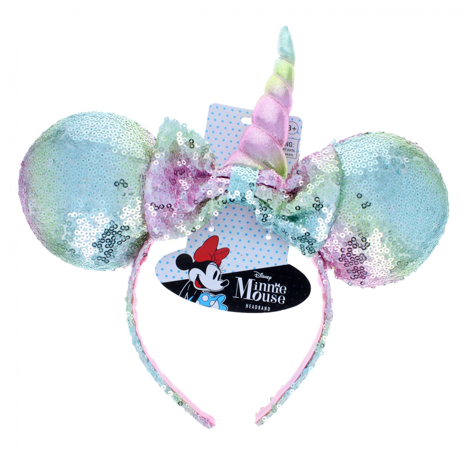 Disney Sequin Minnie Mouse Ears Unicorn Headband - Pastel