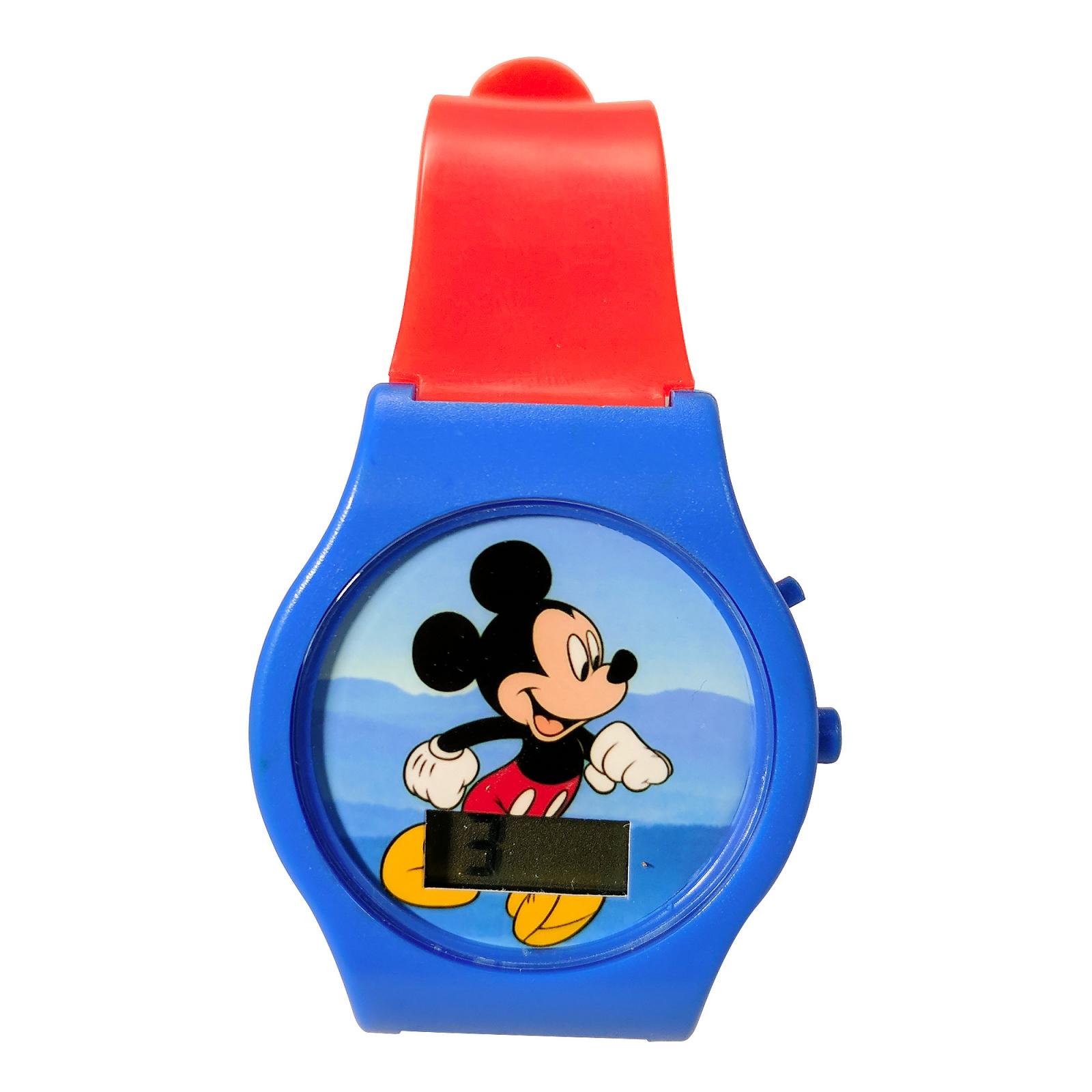 Mickey Digital LCD Wrist Watch Kids Adjustable Strap - Orange