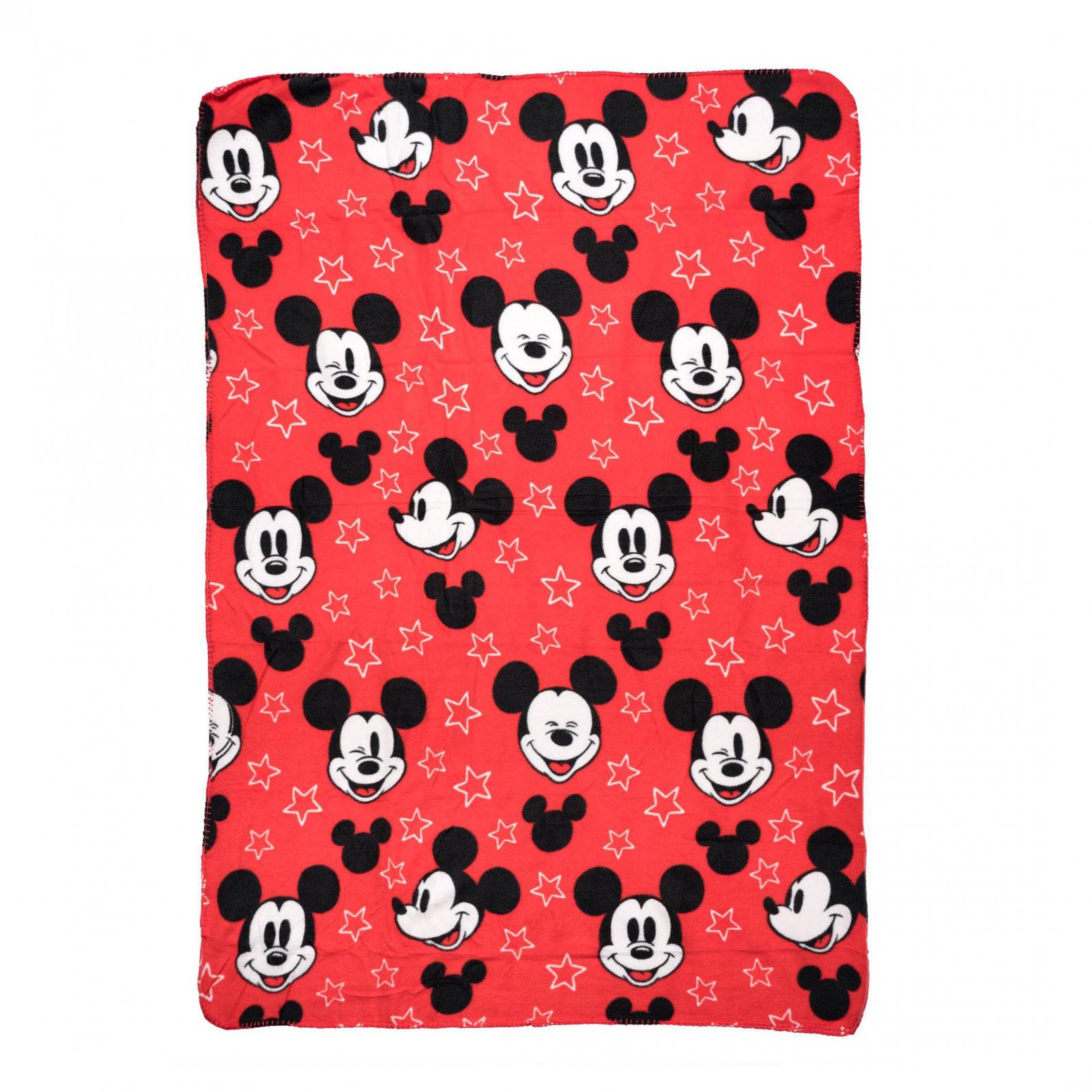Disney Mickey Mouse Plush Fleece Throw Blanket 45 x 60 Inch