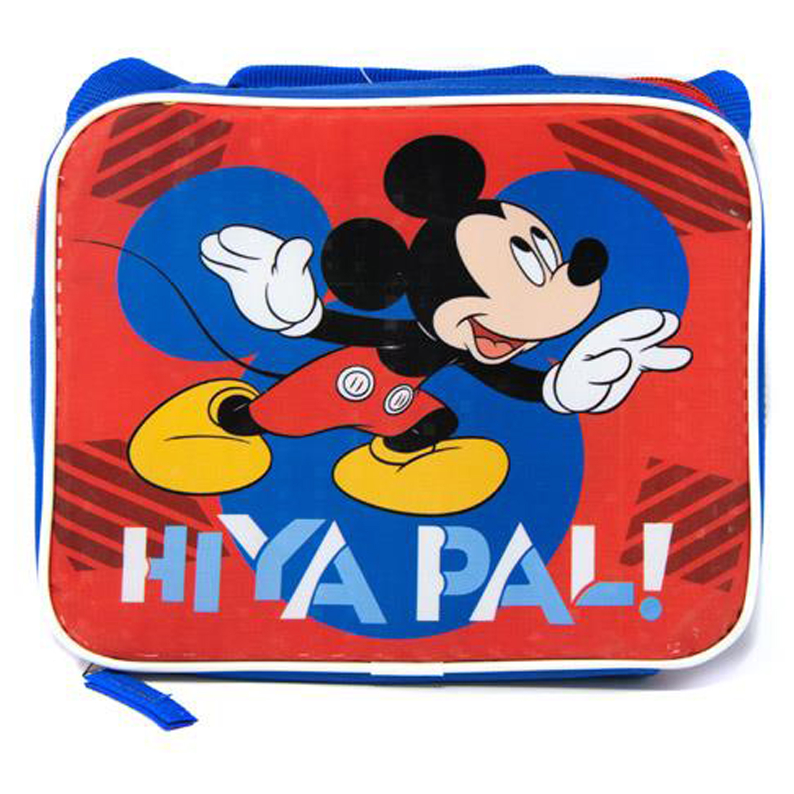 Disney Mickey Mouse Hiya Pal Insulated Lunch Bag Shoulder Strap School Tote
