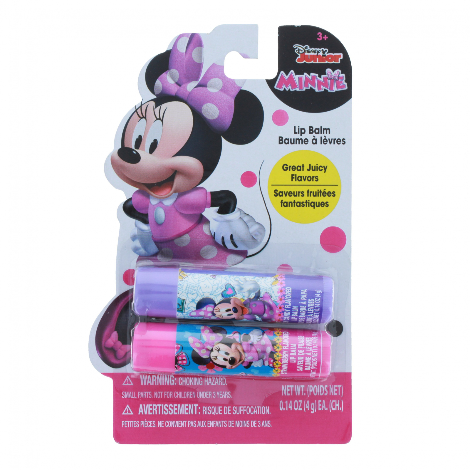 Disney Minnie Mouse Girls Flavored Lip Balm Gift Set 2pc