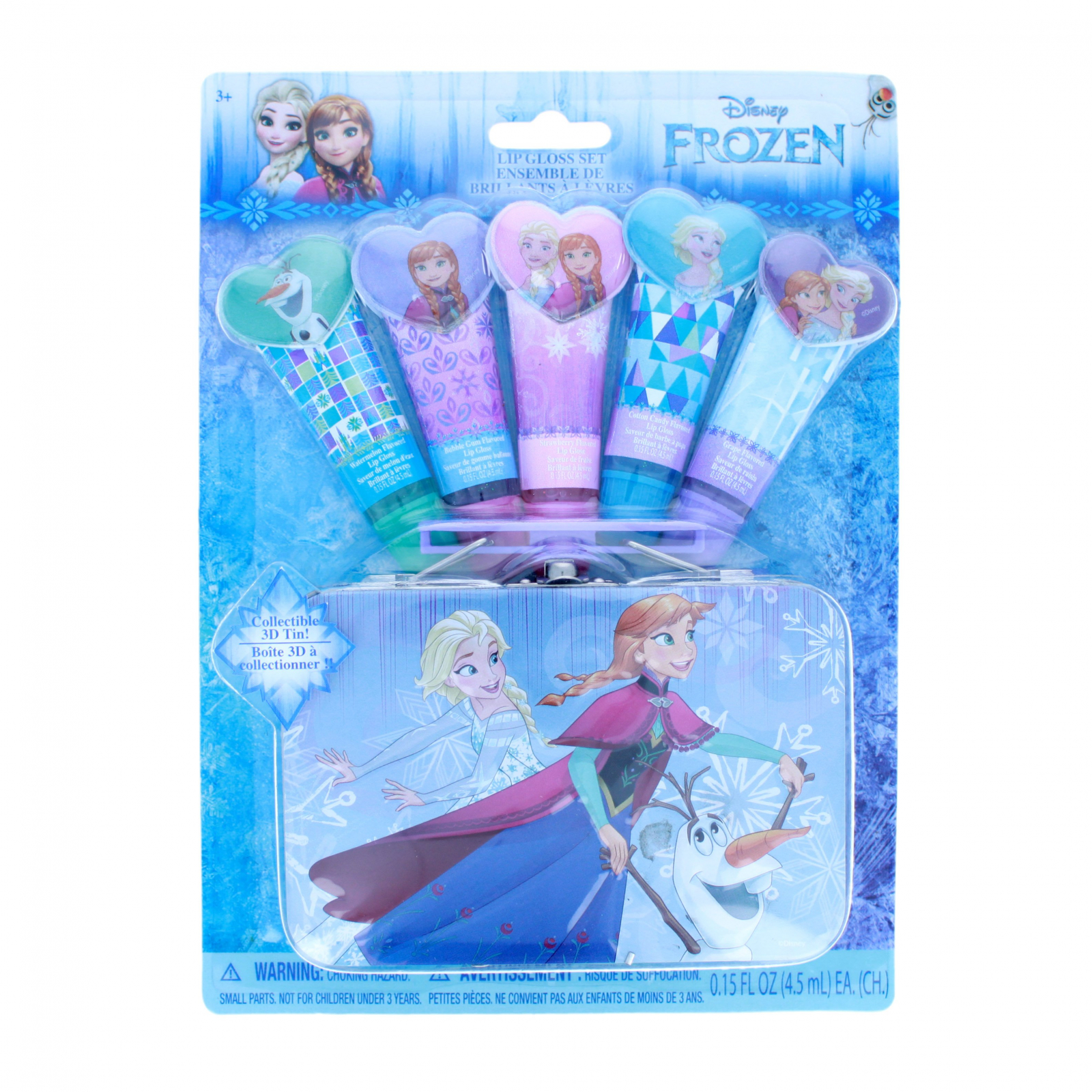 Disney Frozen 5 Pack Flavored Lip Gloss Set with Carry Tin