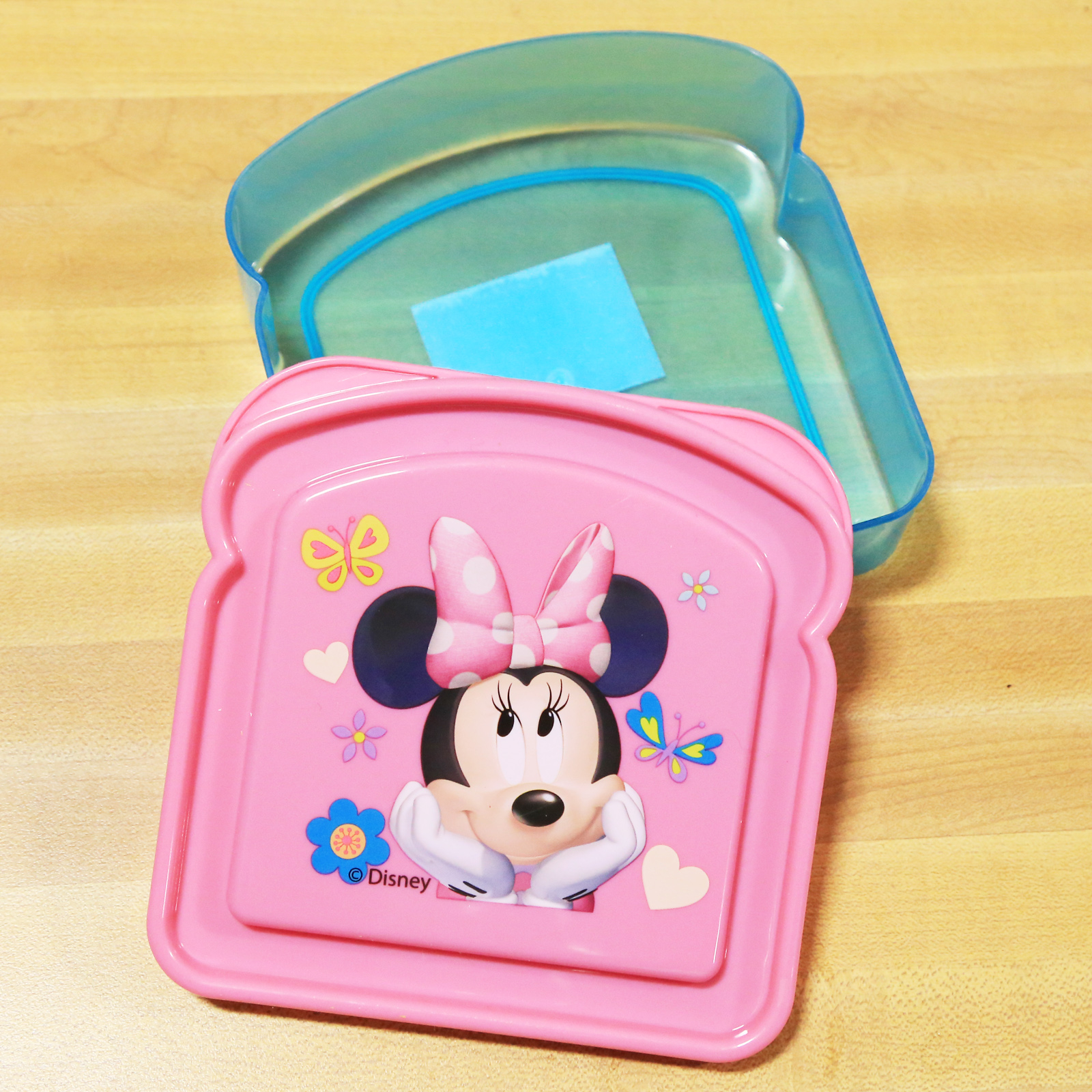 Disney Minnie Mouse Girls Sandwich Container Bread Lunch Box for School Travel