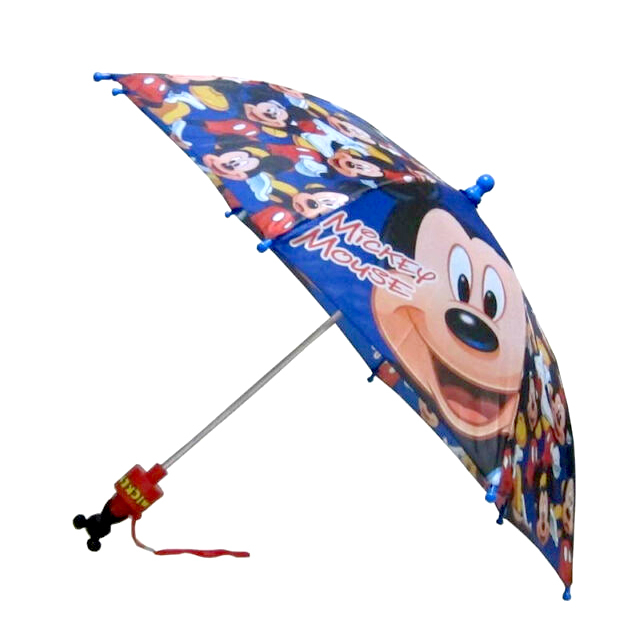 Disney Mickey Mouse Blue Kids Umbrella with Molded Handle