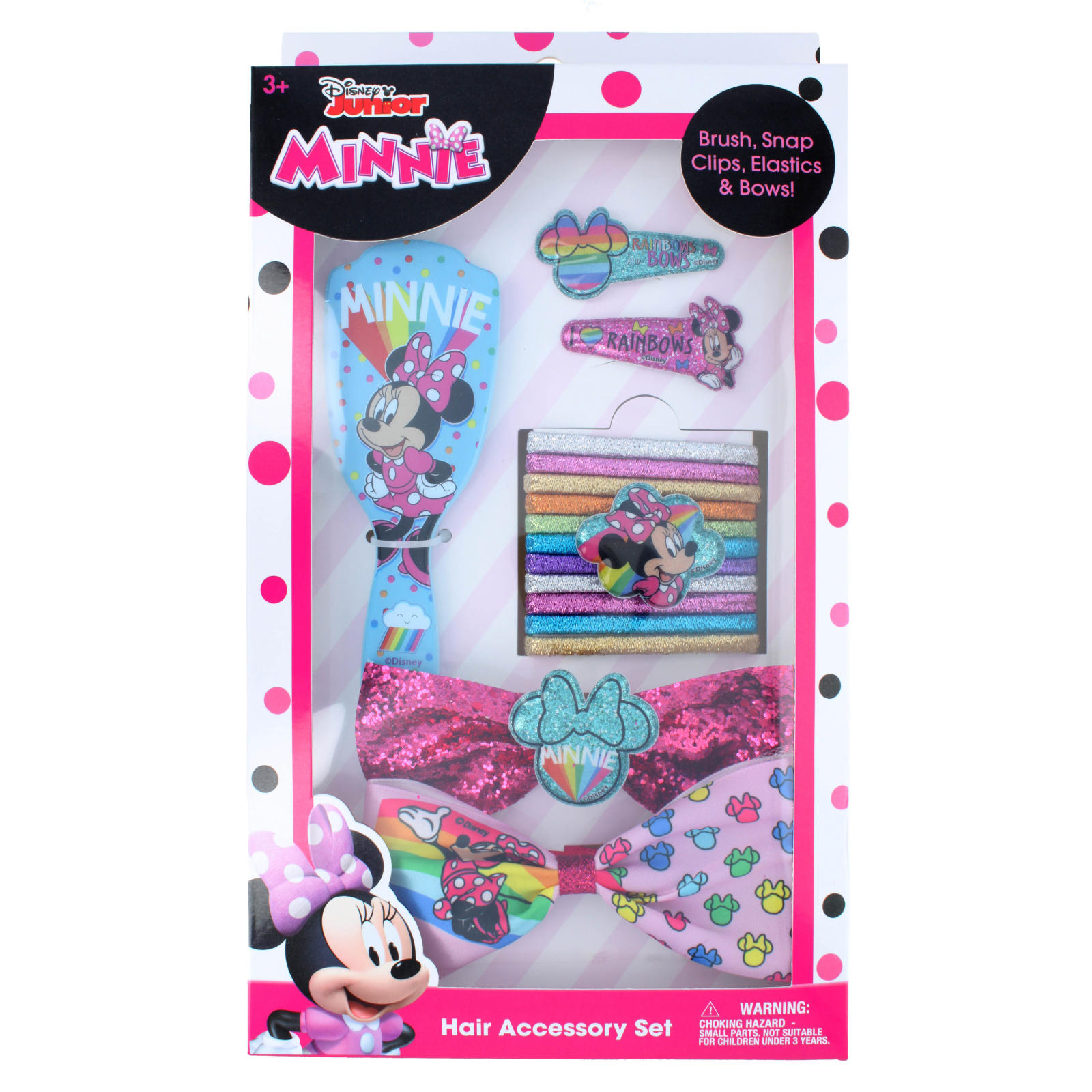 Disney Junior Minnie Mouse 16 Piece Hair Accessory Set