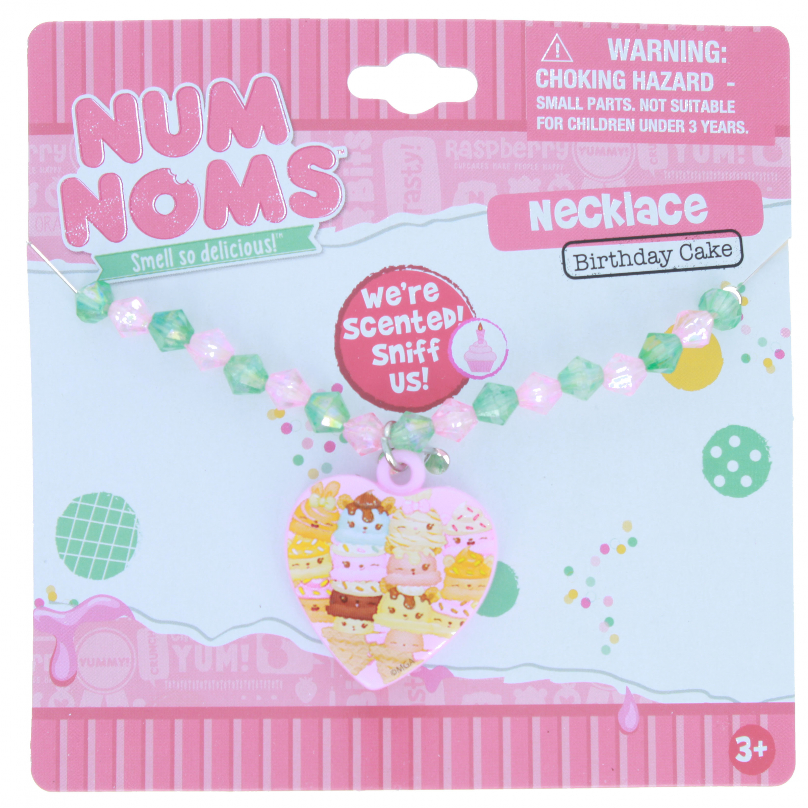 KidPlay Products Num Noms Hair Tie and Necklace - Cake Scented