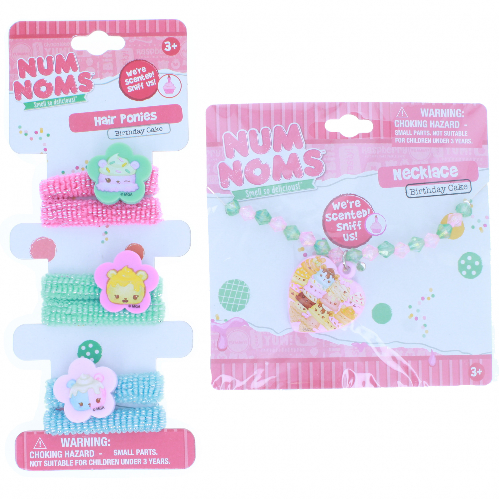 KidPlay Products - Num Noms Hair Tie and Necklace - Cake Scented
