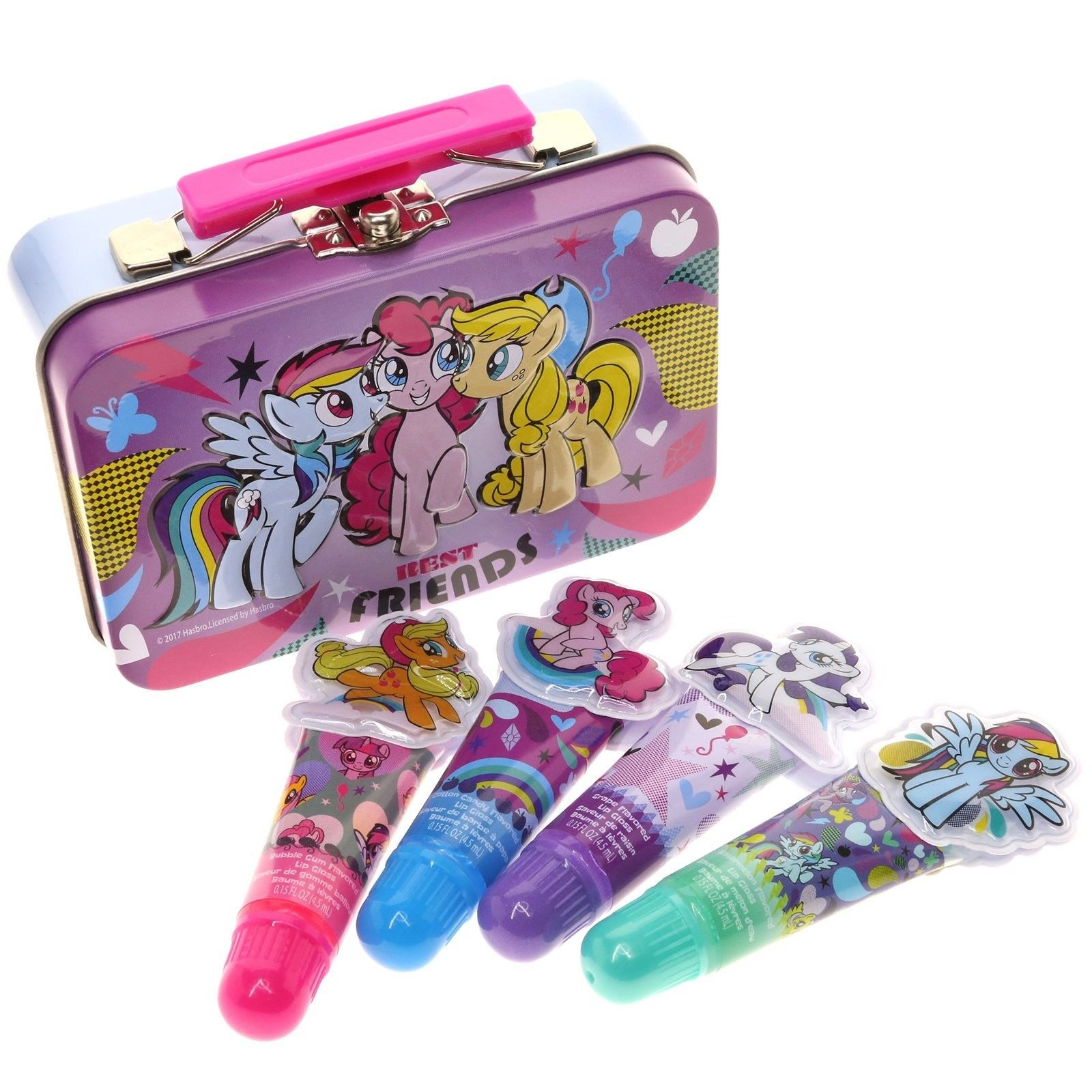 My Little Pony Friendship is Magic Best Friends Collectible Lip Gloss Tin Set